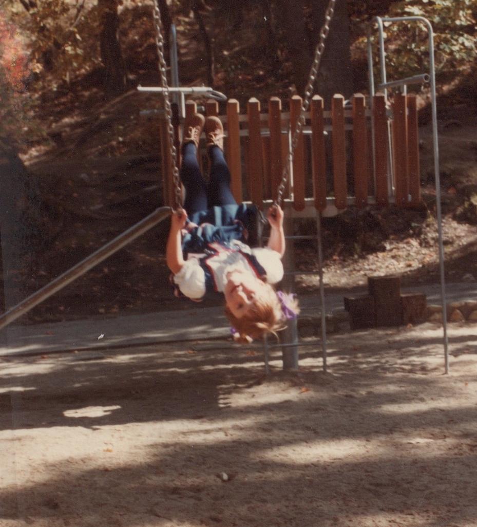 Swinging in Lithia Park -Ashland, Oregon - 1982