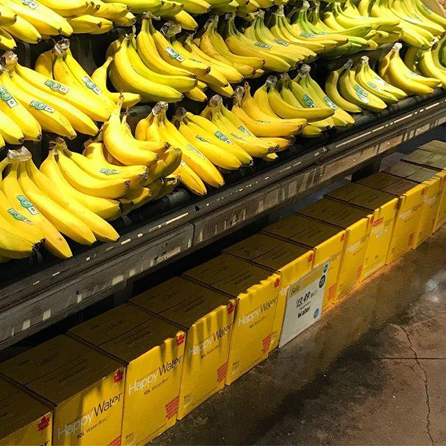 Colourblocking @wholefoods #happy #waterbox and #bananas #livehappy #yellow