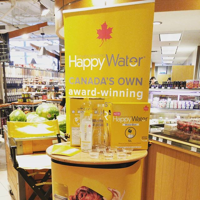 We're bringing Happy Back! (yaaah)  come visit us at the Urban Fare, Shangri-La!  1L for $2.49, 5L for $7.99 (whoa), and BOGO!  Come by! #livehappy