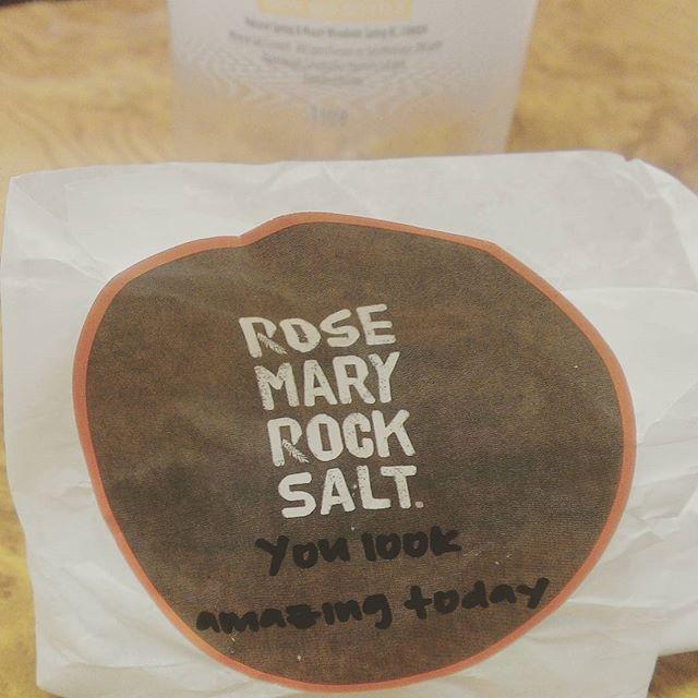 Thanks for the #happywednesday love, @rosemaryrocksalt!  #omnomnom #buylocal #LiveHappy #shoplocal