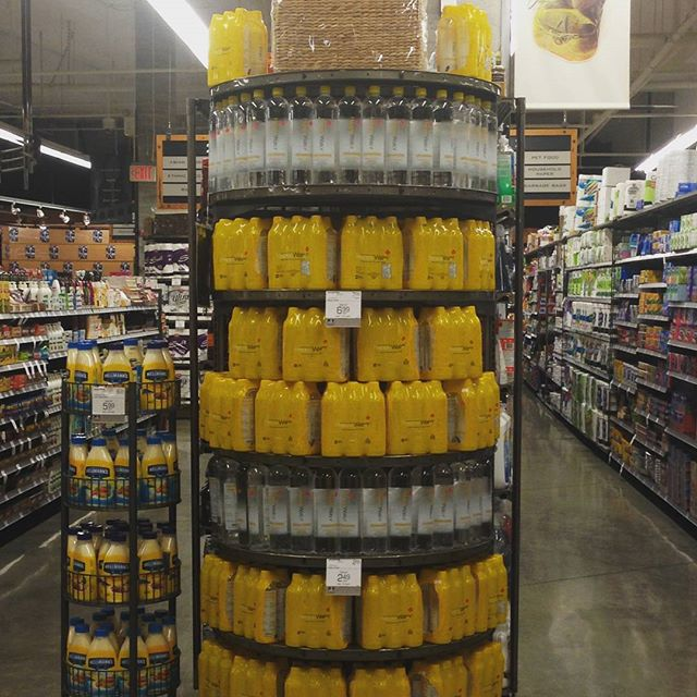 Whoa!  The Urban Fare in Yaletown really put the 'Happy' in Happy Wednesday with this display!  6x500ml is available for $6.99! #livehappy #shoplocal