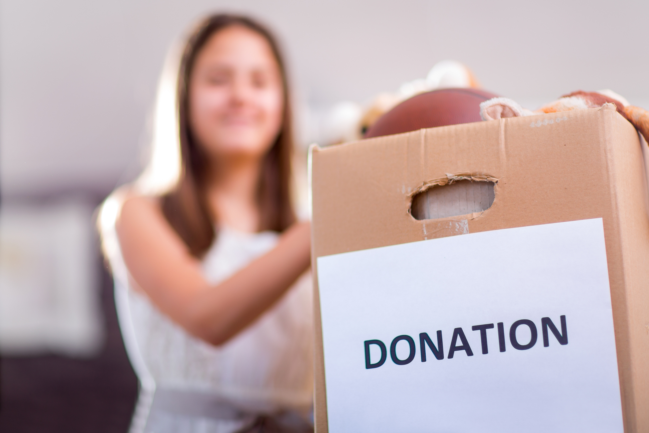 Box of items to donate
