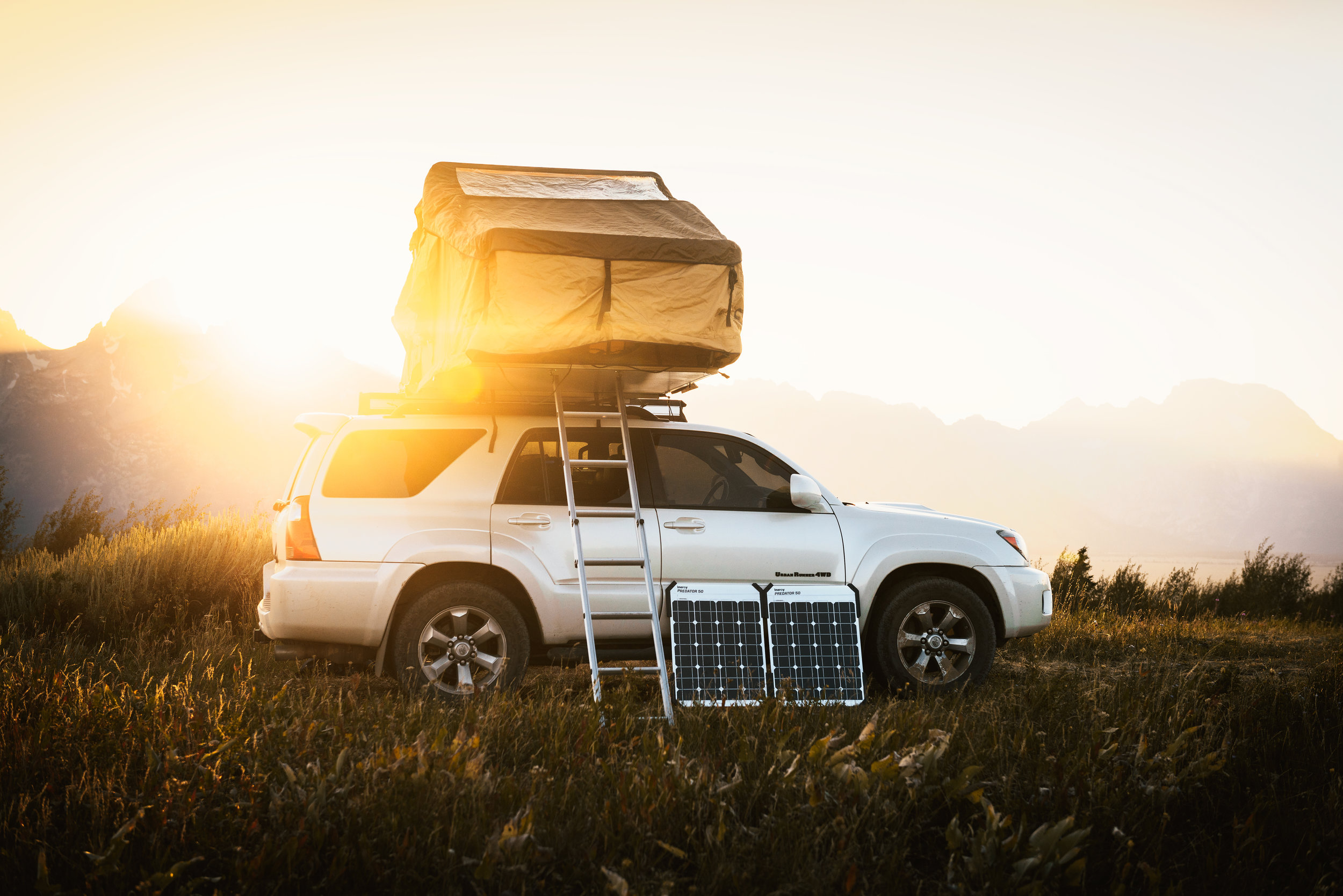 Camping with the Kodiak Solar Powered Compact Generator makes traveling a breeze