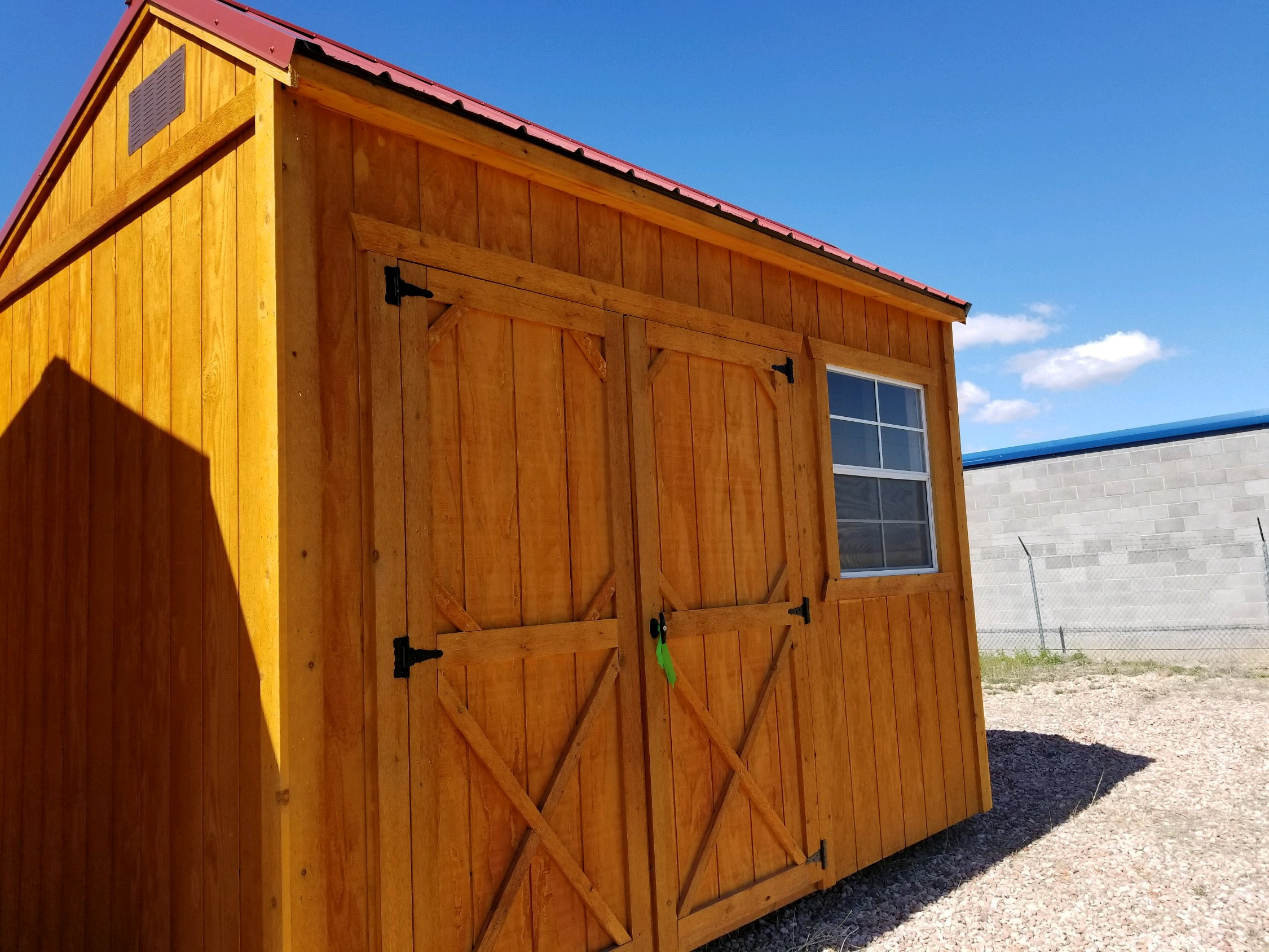 Storage Shed with New Heavy Duty Hardware