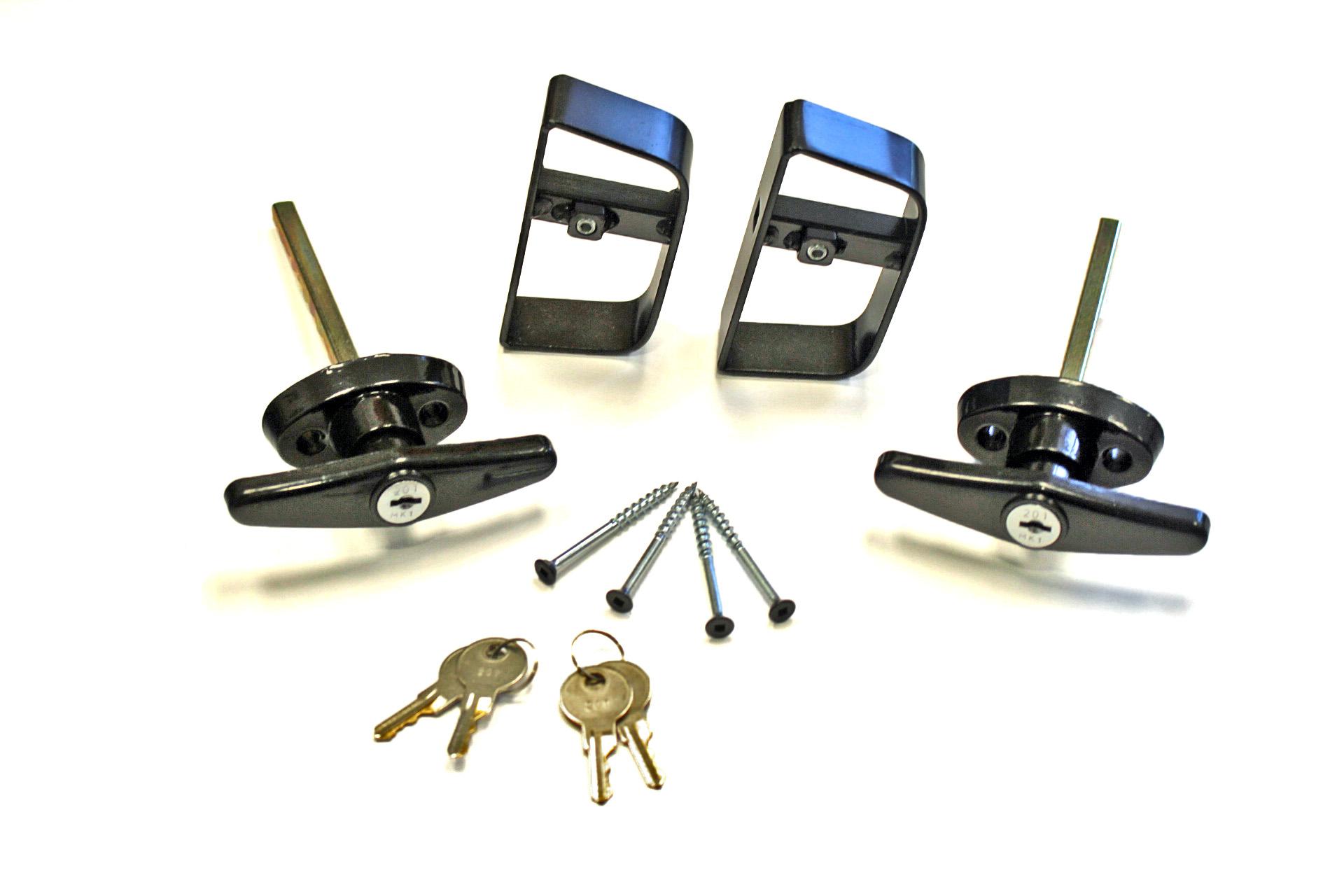 T Handle Keyed Alike Door Lock Set