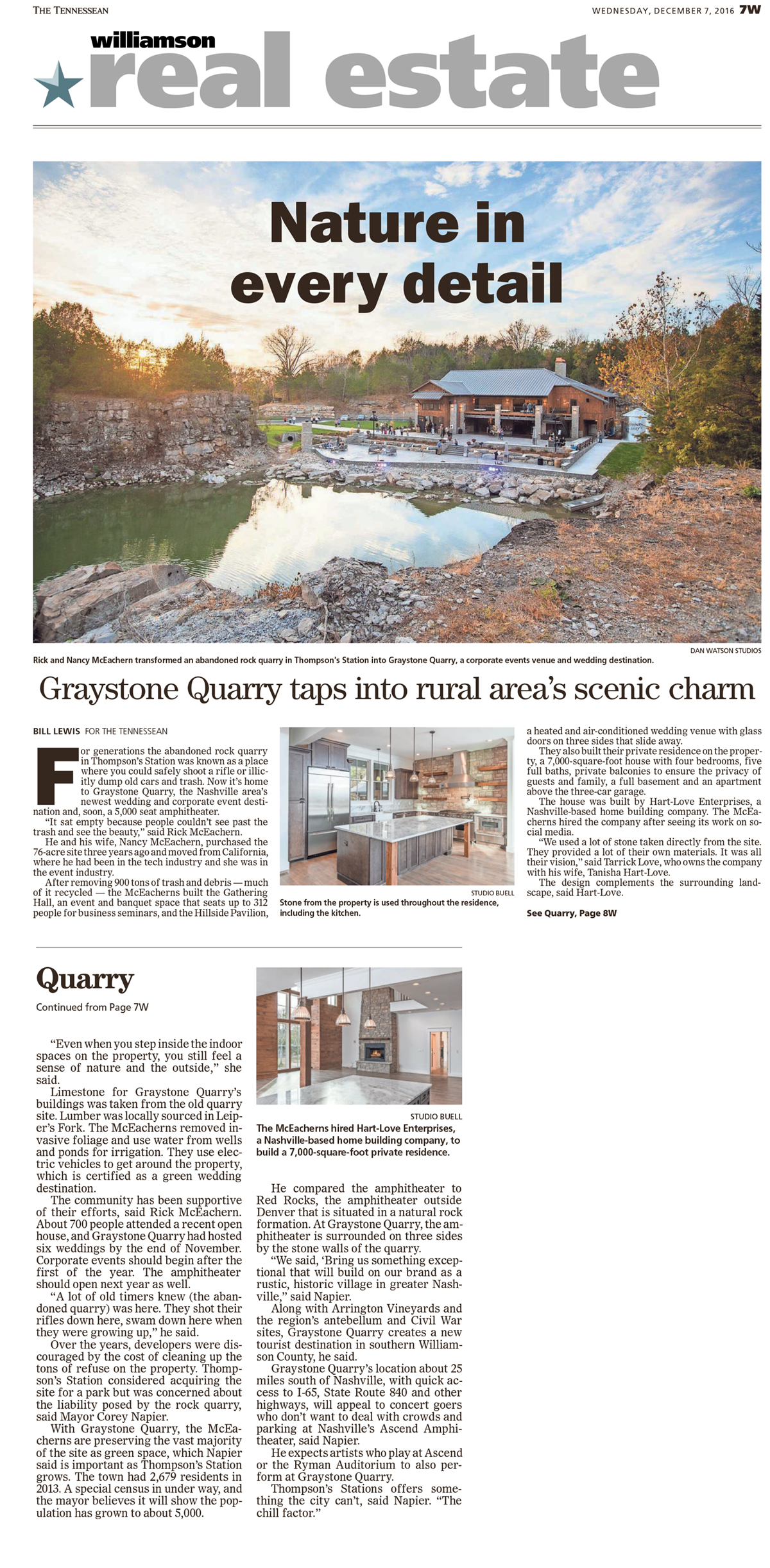 HL Renovates the historic Graystone Quarry