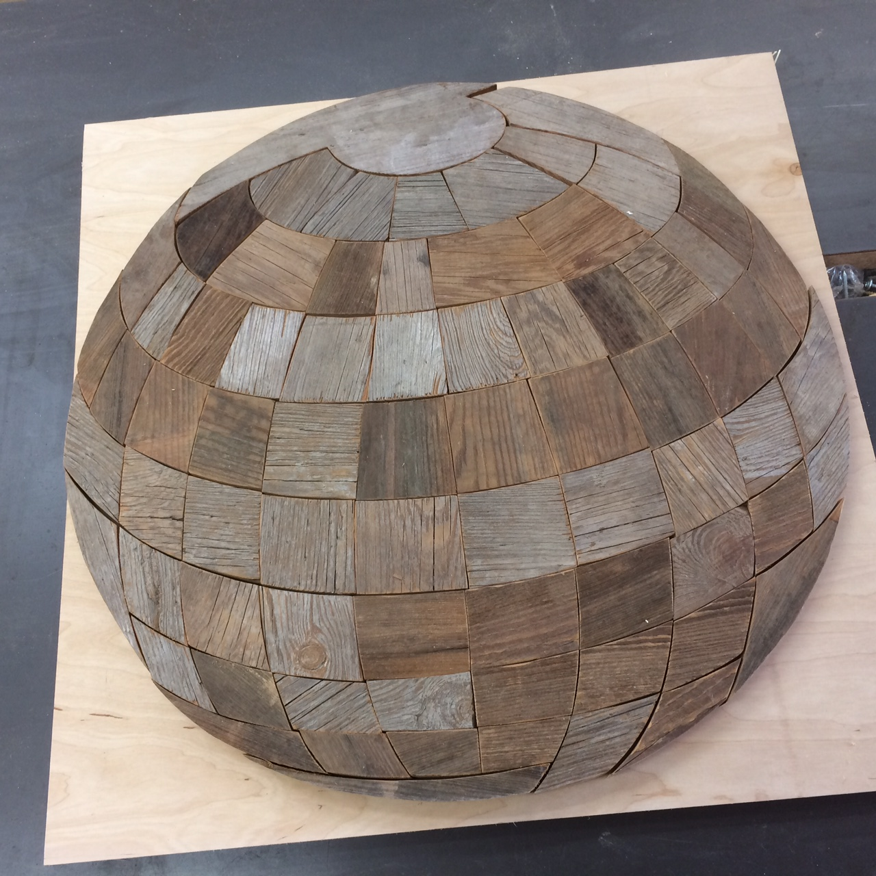 The first barn wood globe
