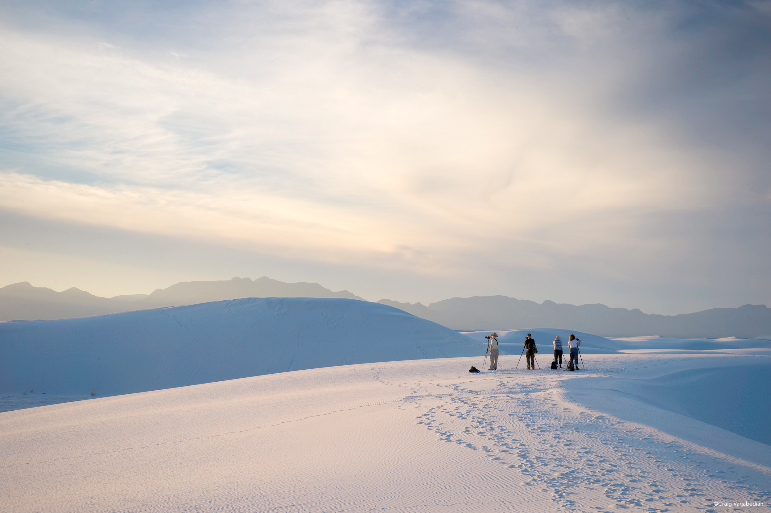 White Sands National Monument, photograph by Craig Varjabedian