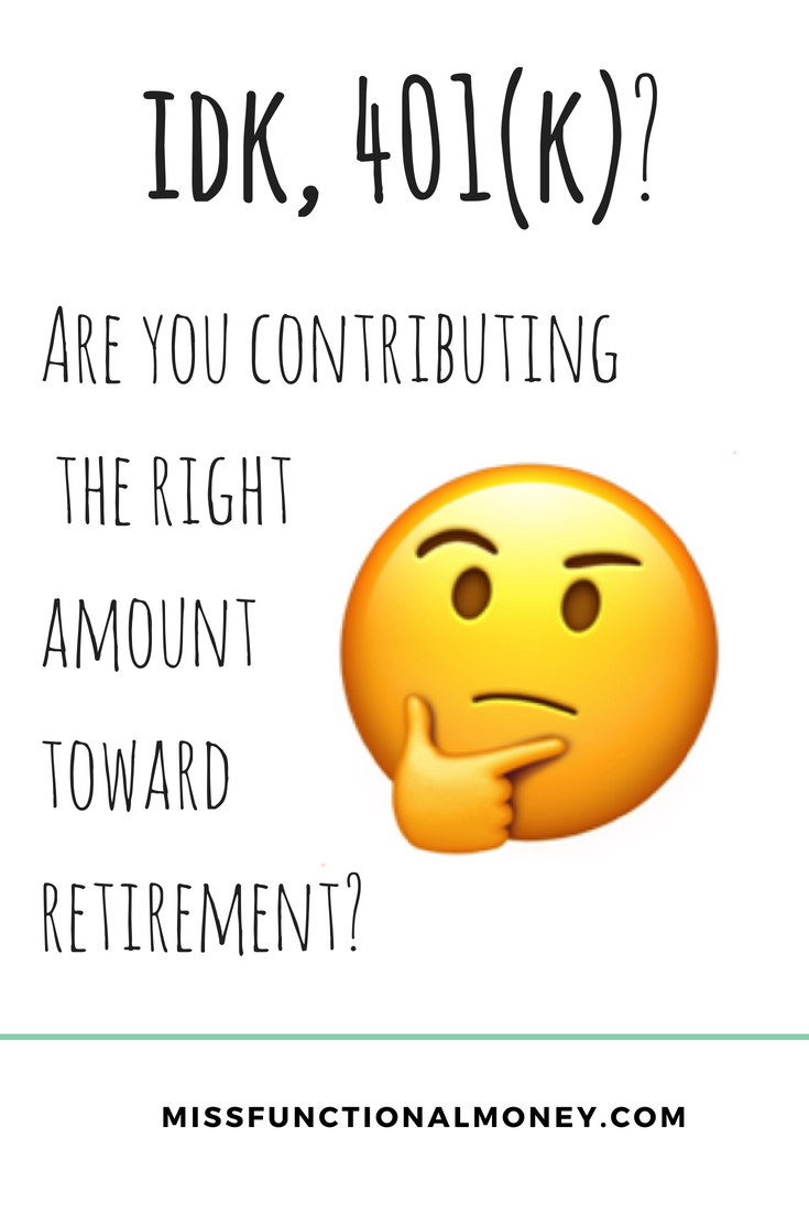 retirement for millenials requires early planning - are you contributing enough to your 401k?