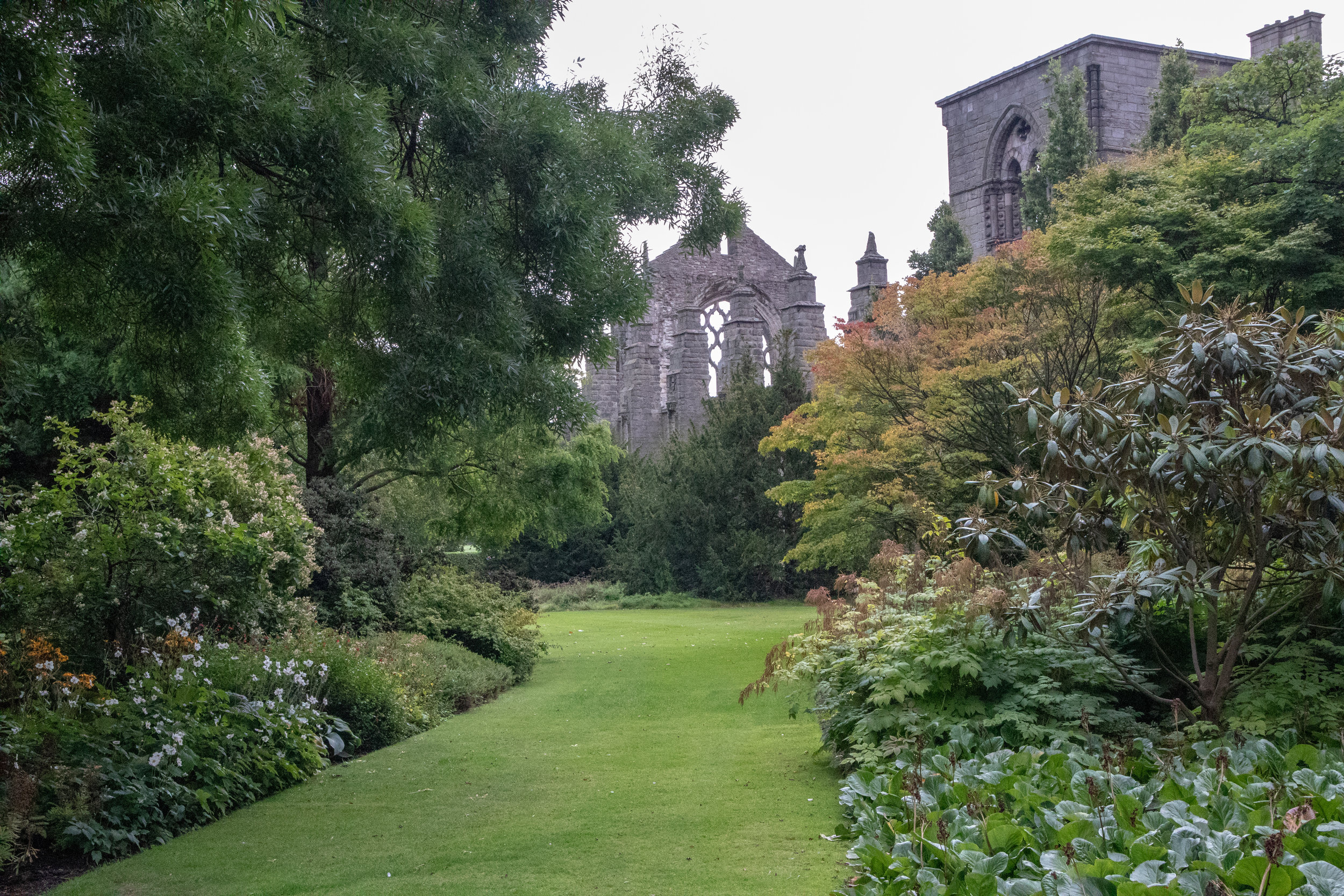 Taken from the gardens outside of the abbey at The Palace of Holyroodhouse in Edinburgh, Scotland.