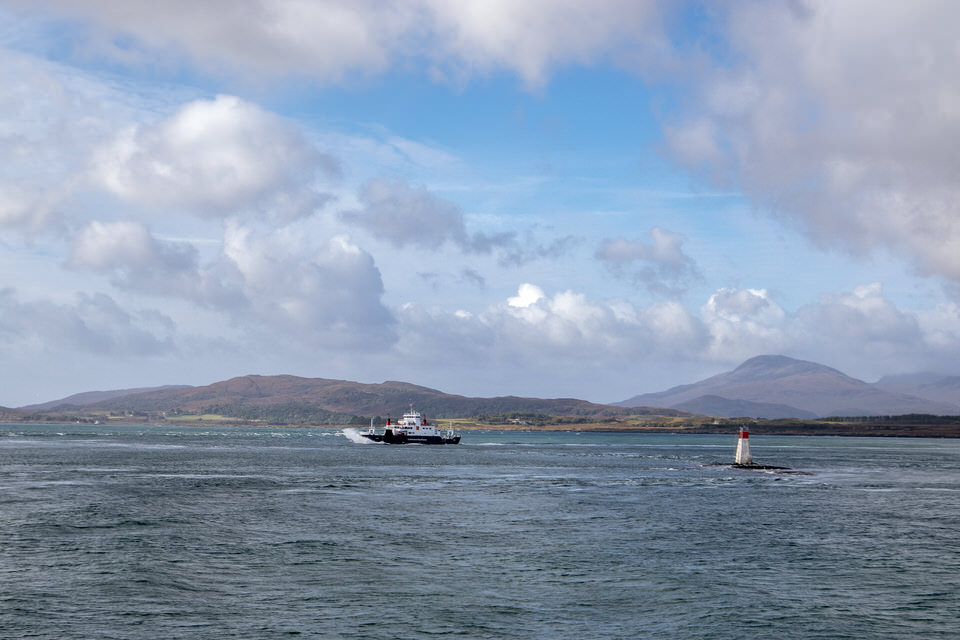 The view from the docks in Oban. We took one of those CalMac ferries!