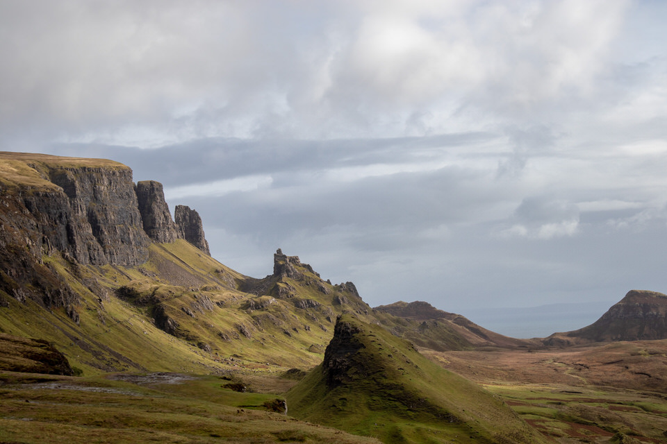 The Quiraing on Isle of Skye, Scotland. Or, as we came to call it, Green Mars.