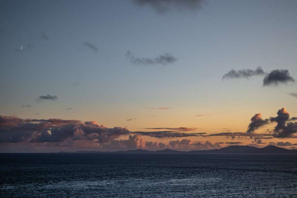 Those are the Outer Hebrides that you can see in the distance there. Crazy.