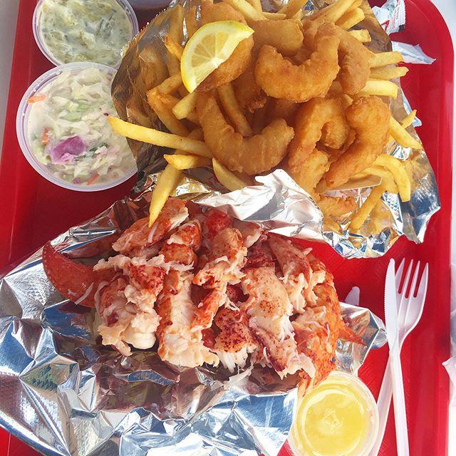 Maine mood: $20 lobster roll. Plastic fork. Killer view (not pictured). 🦐 . . . . . . . #maine #travelblogger #visitmaine #portland #barharbor #visitbarharbor #mytinyatlas #wanderlust #moneytalks #moneyforlobstersreally #moneyblogger #missfunctionalmoney #dfc #nomz