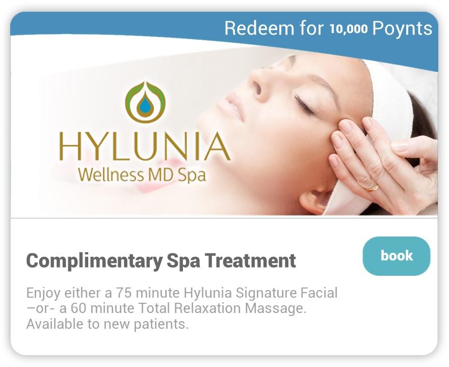 Hylunia on Carepoynt - Complimentary Spa Treatment