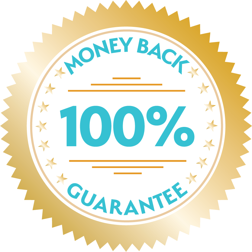 100% money Back guarentee