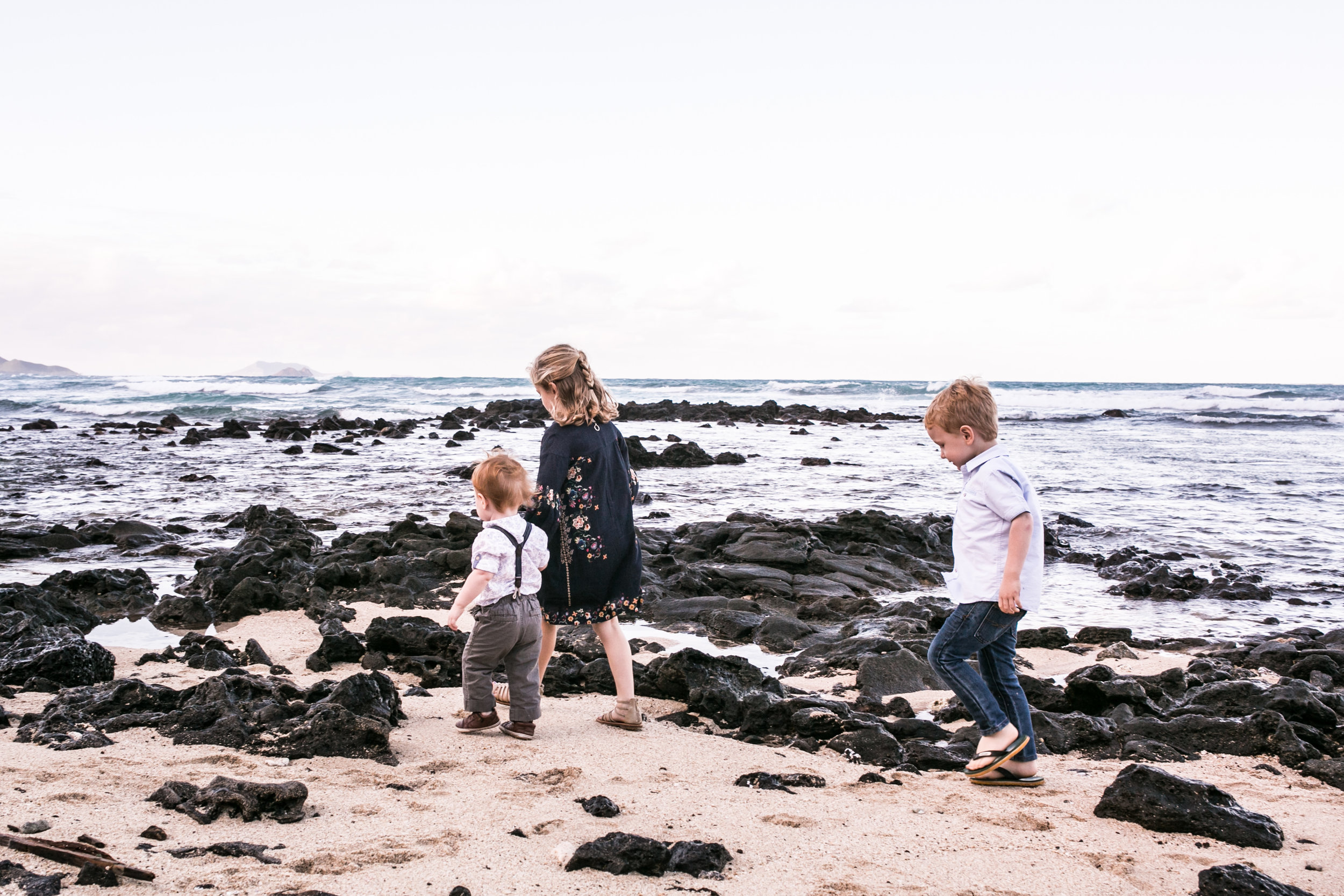 I was born, raised, and I birthed our children here in Hawaii, and it will be the first time these three (and my sister's four boys) to not be surrounded by this beautiful ocean.