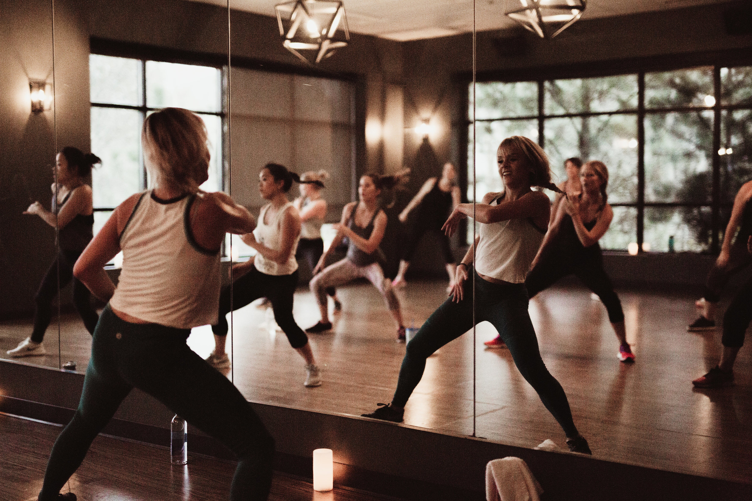 - We love private events. Office outings, bachelorette parties, birthdays - we do it all, and we do it how you want it done. Champagne and yoga? We got you. Cardio Dance? Let's do it. We love to entertain as much as we love to sweat.