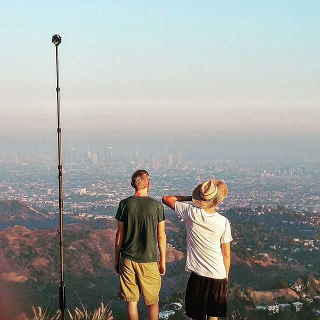 These autumn afternoons are the best! Mixing the enjoyment of California sunsets, the Hollywood Hills, and 360° with @jakeingraham and @caseylillestol. • • • • • • • #virtualreality #VR #experience #travel #Explore #adventure #production #360degrees #Hollywood #LosAngeles #California #Beautiful #IGDaily #love #Instagood #Home #tech #Startup #Technology #Ar #htcvive #Immersive #explore #TechStartup #sunset #sky #wow #climb #go