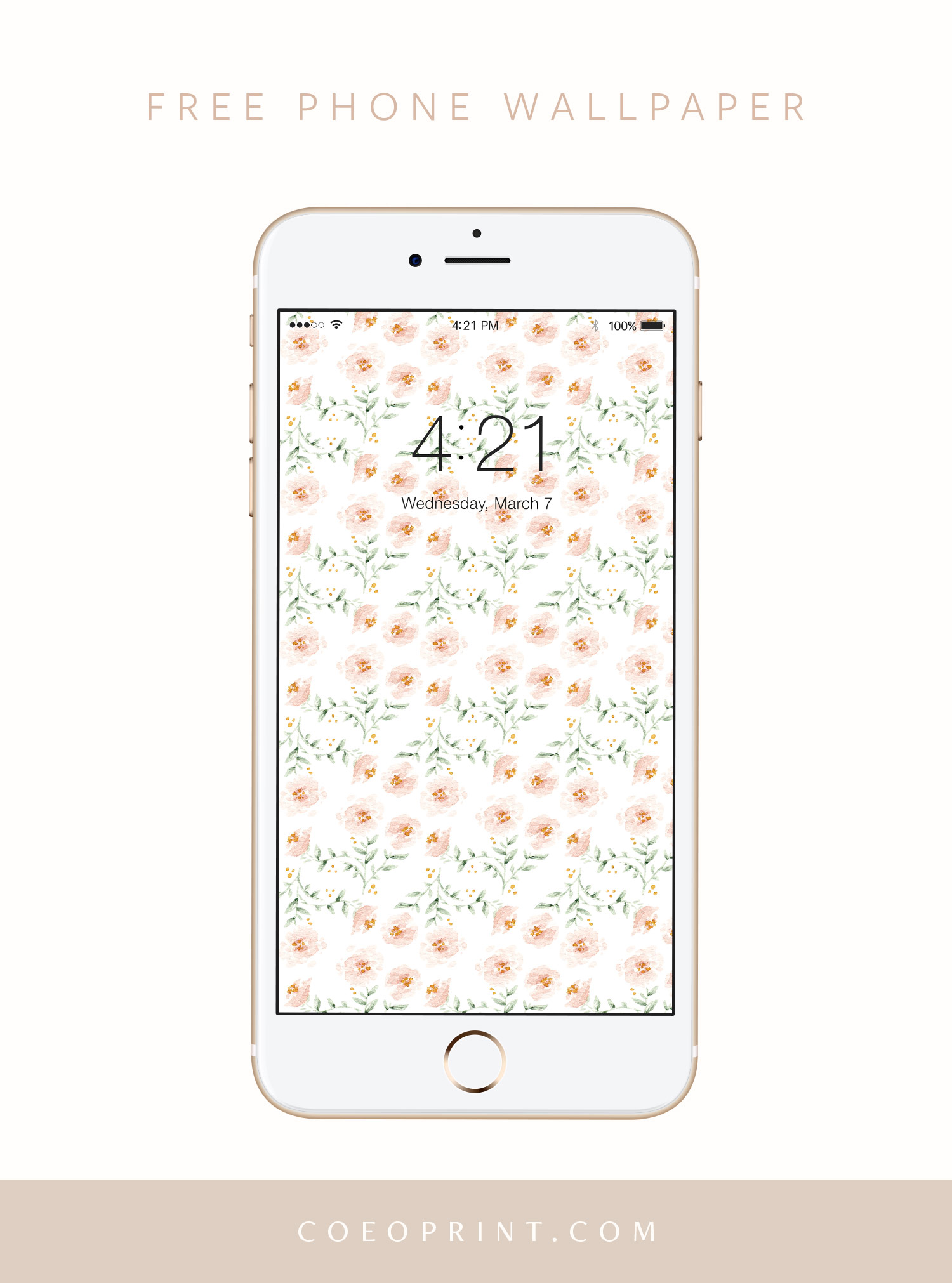 Coeo Print Company Free Phone Wallpaper Summer Florals