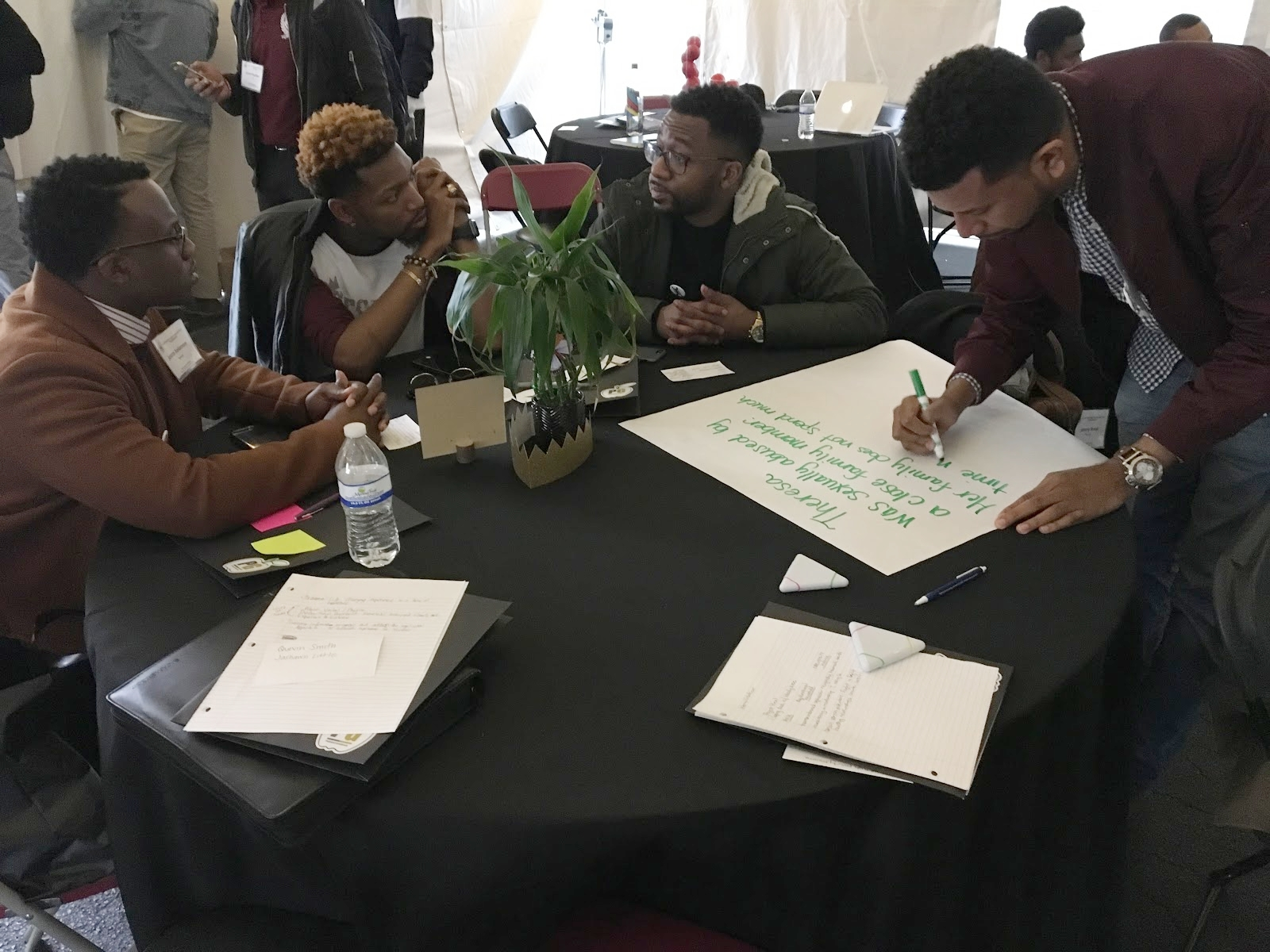 Charlotte, North Carolina - (Profound Gentlemen's Annual Community Impact Assembly)23, Black Male Educators, Administrators, Entrepreneurs and Equity Advocates Engaged in a Trauma-Informed Professional Development Session Centered Upon Identifying Student Behaviors Associated with Traumatic Experiences alongside Participating in Scenarios that Demonstrated How Trauma Impacts a Student's Ability to Learn.