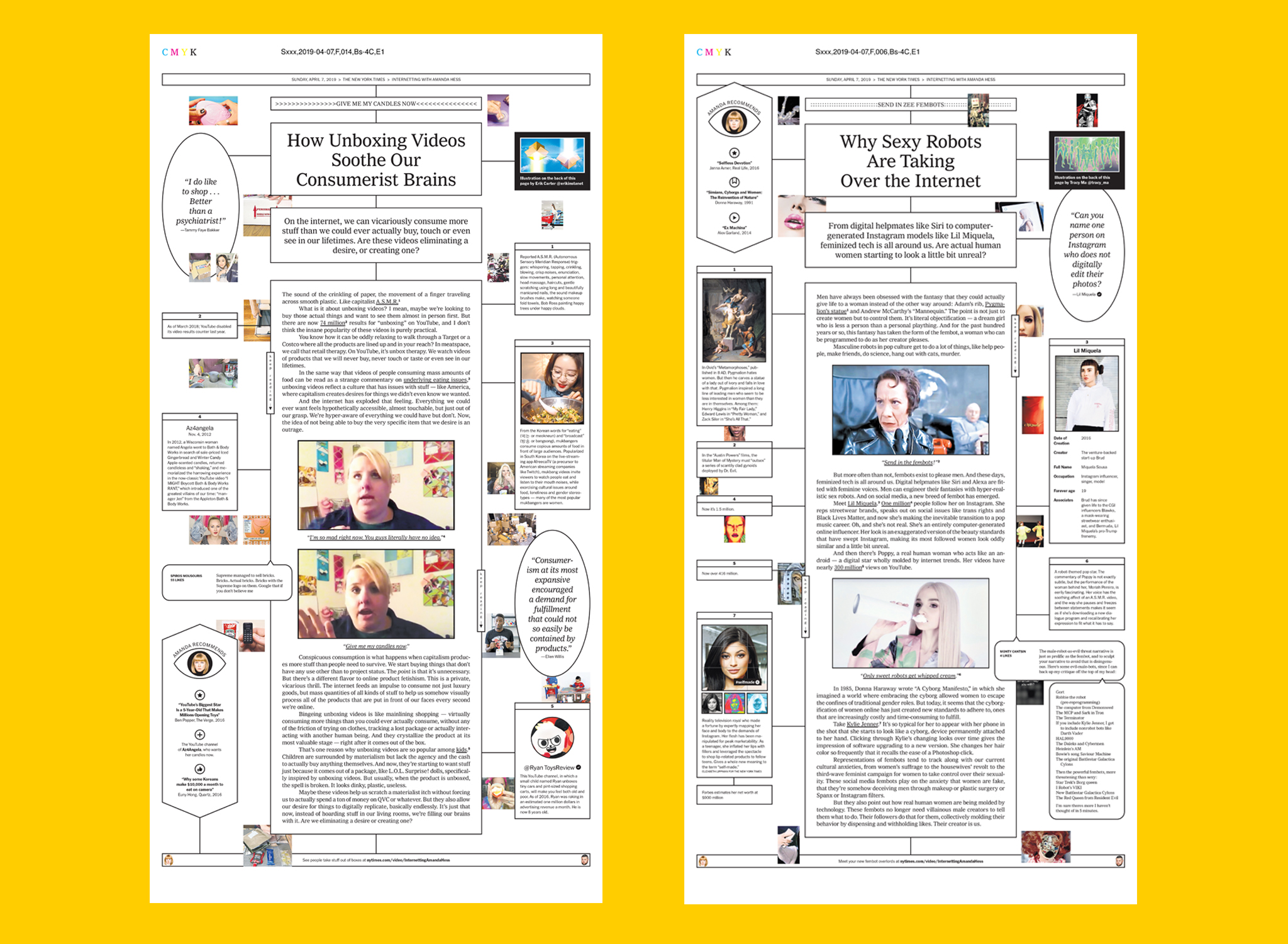 The New York Times, Internetting With Amanda Hess - co-designed with Andrew Sondern