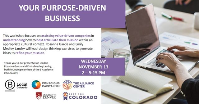 52% of millennials and 48% of Gen Xers feel it's important that their values align with the brands they like… learn how to refine your mission statement to reflect your purpose in a workshop with Emily Medley and Rosanna Garcia, founders of the B Academic Community  Space is limited, sign up before spots fill up! https://www.eventbrite.com/e/76363722951/