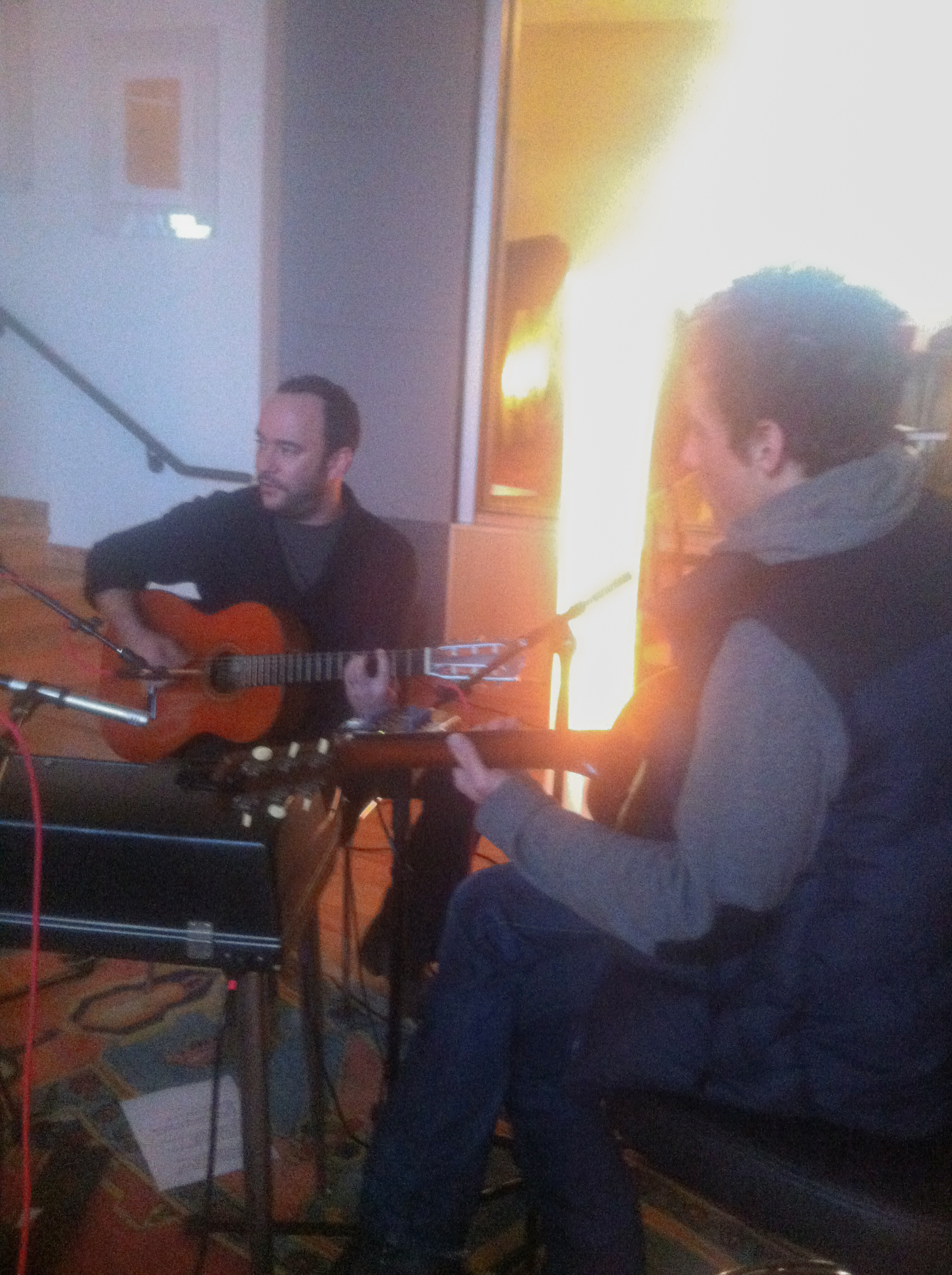 In session with Dave Mathews and Jakob Dylan at Blade Studios