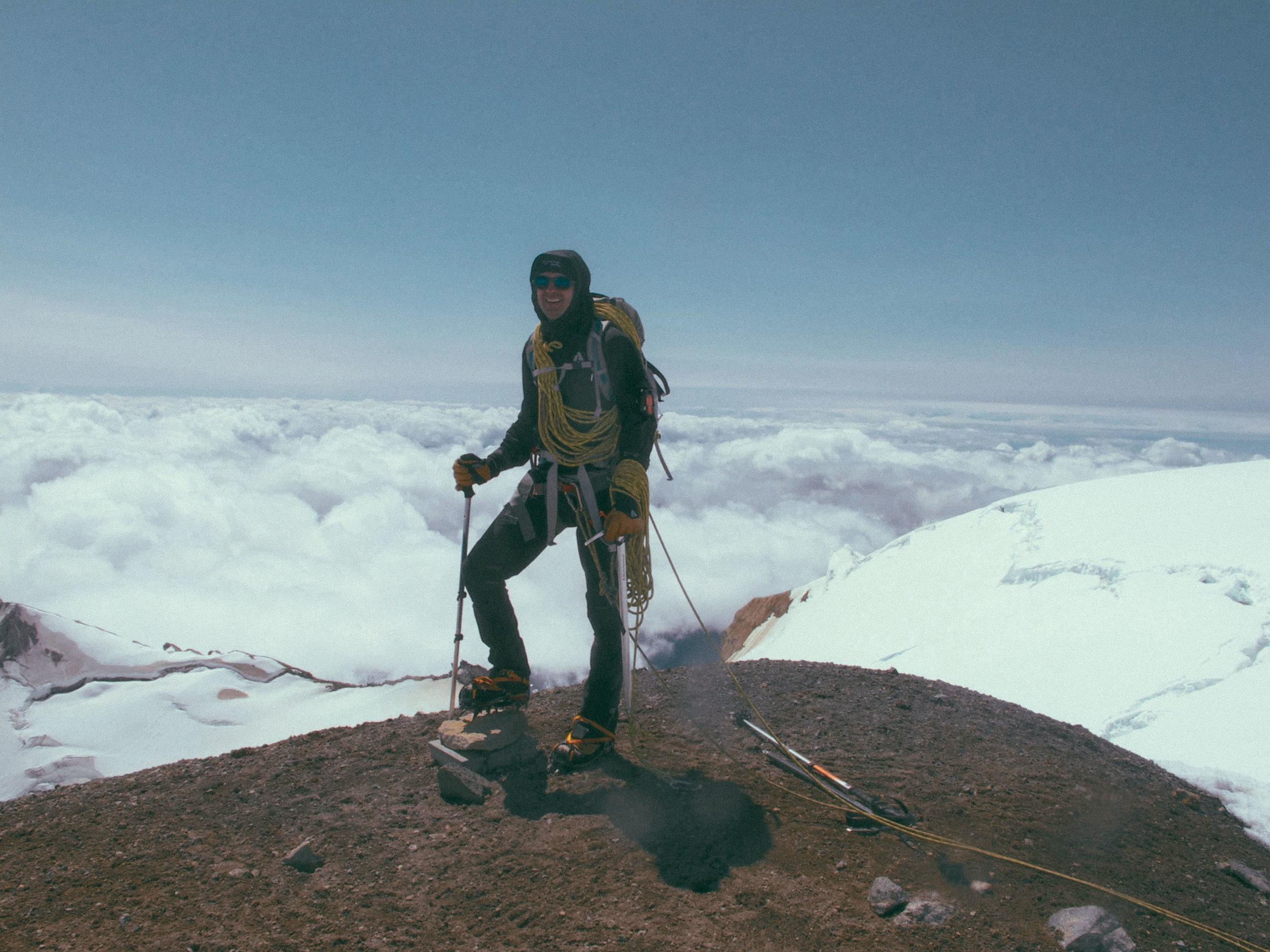 On the Summit of Mt. Baker