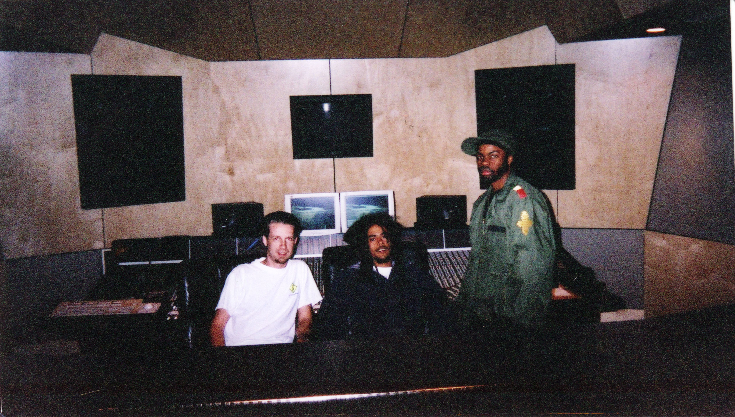 In Session with The Marley Brothers (Damien Marley in pic) at Luminous Sound