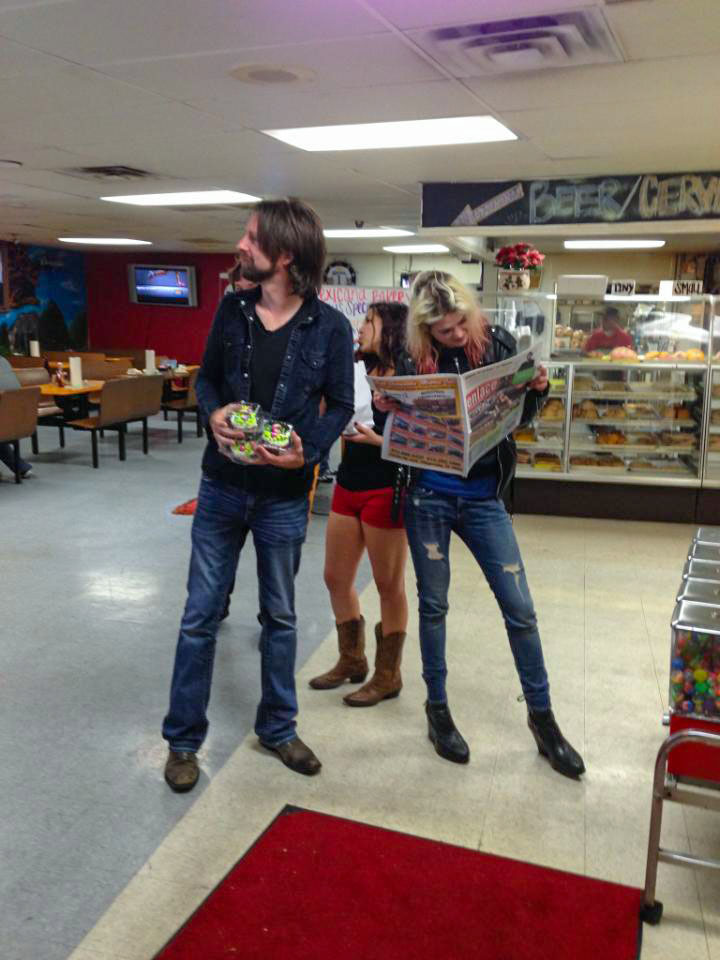 Getting snacks with Faye and Alison Mossart in Austin, TX