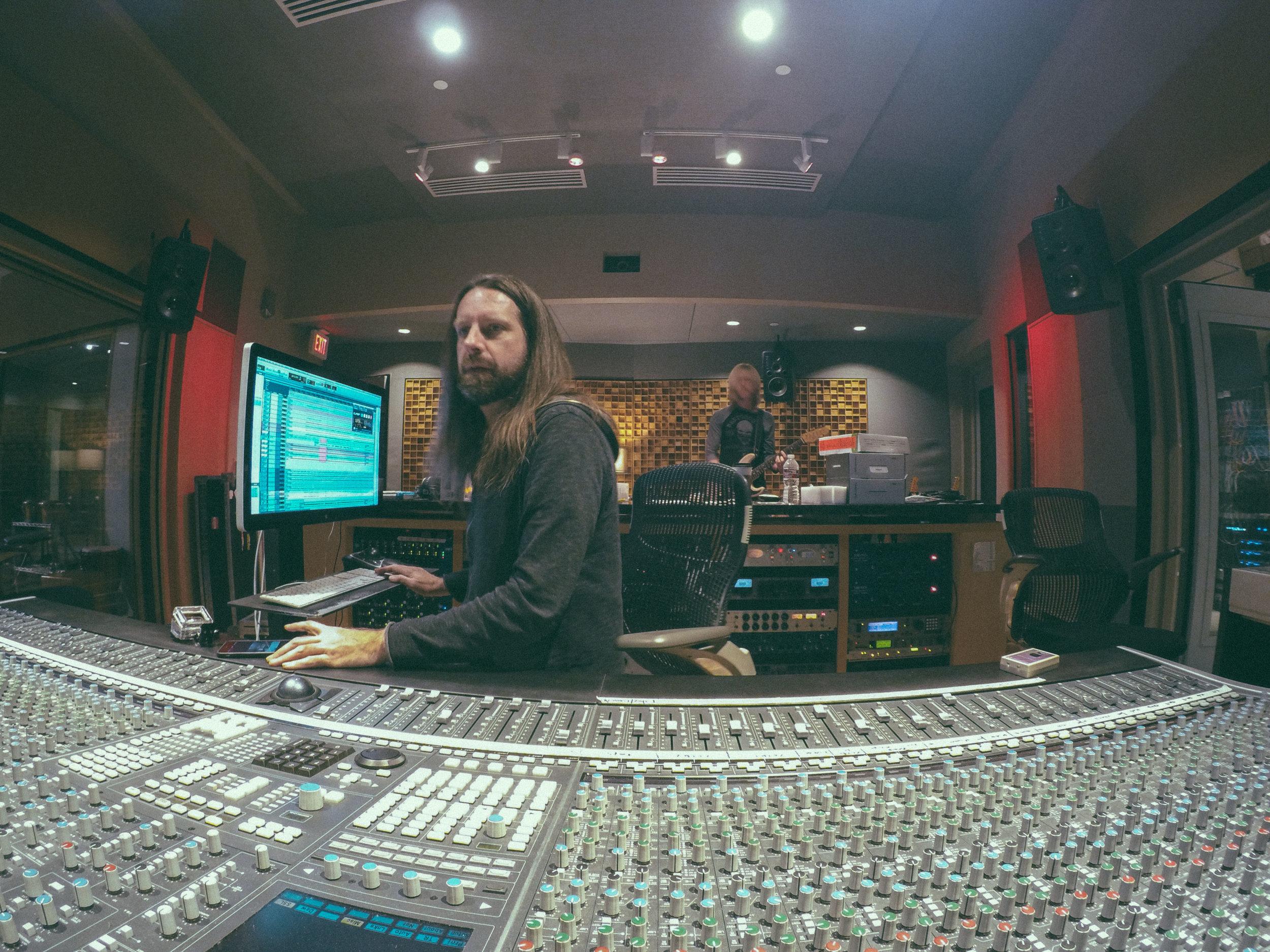 In session with Kenny Wayne Shepherd at Blade Studios, Shreveport, LA