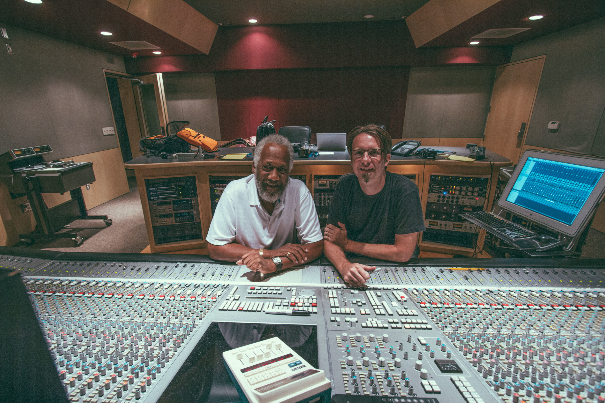 In session mixing with Chuck Rainey at Luminous Sound