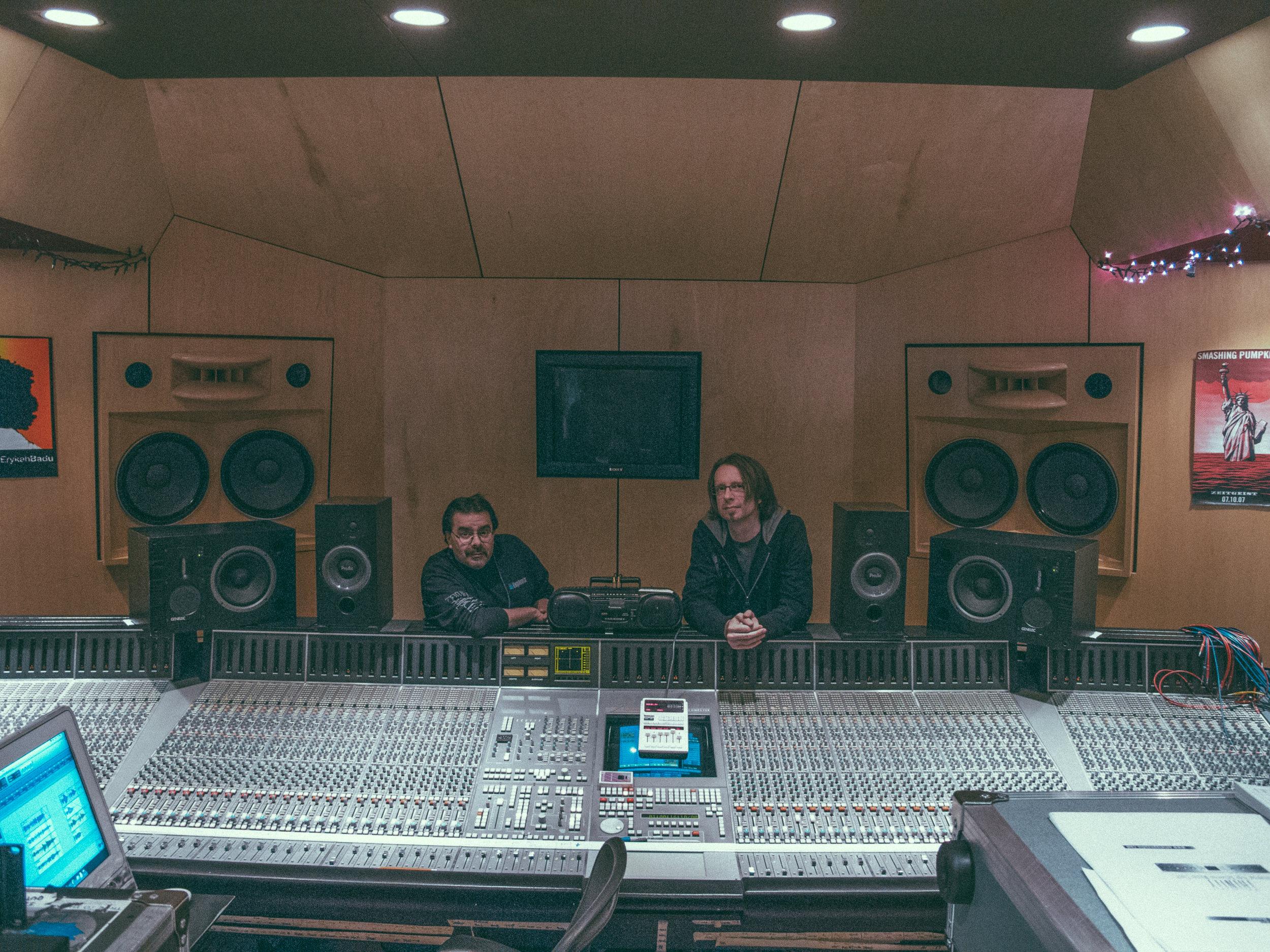 "Working on Erykah Badu's ""Amerykah PT II"" with Tom Sores."
