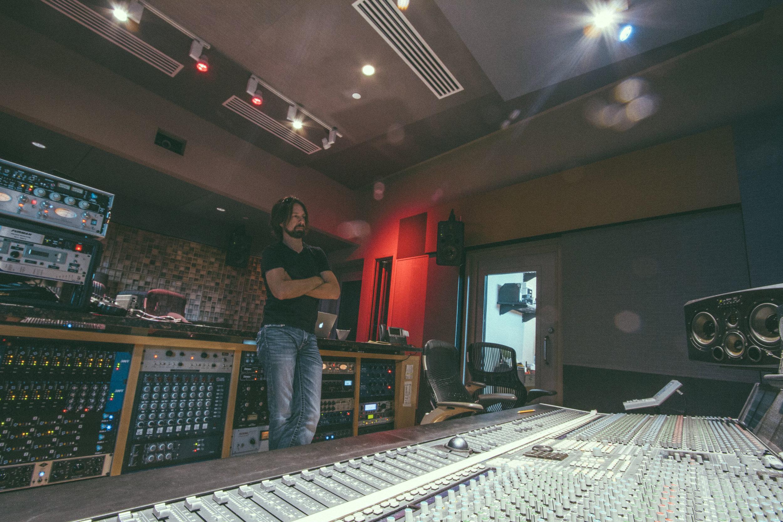 Mixing at Blade Studios, Shreveport, LA