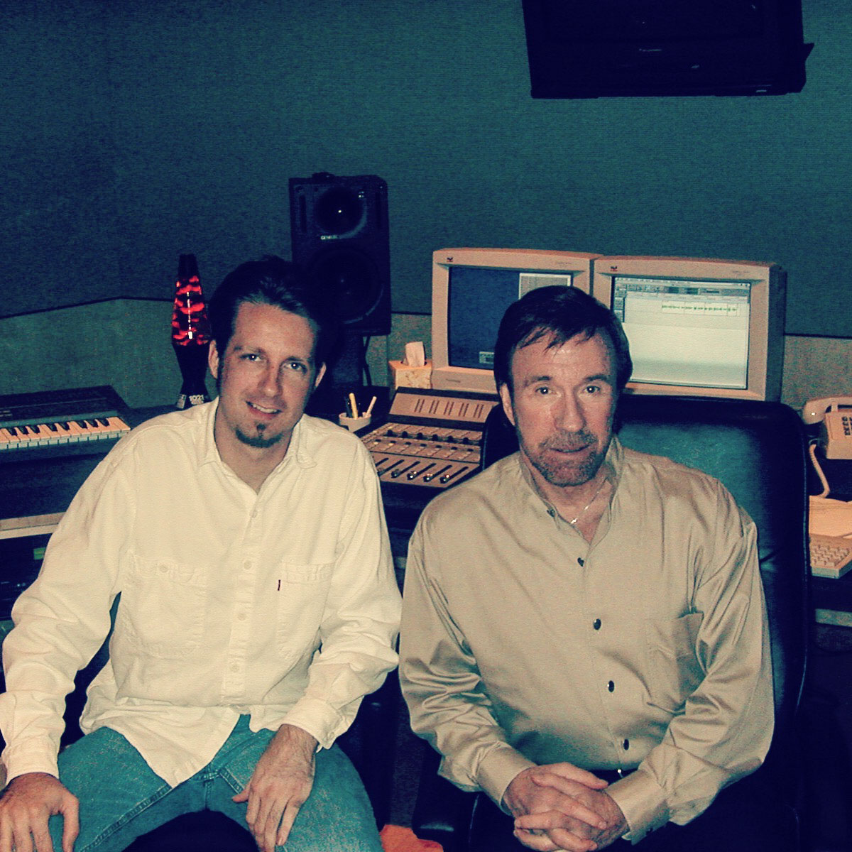 In session with Chuck Norris