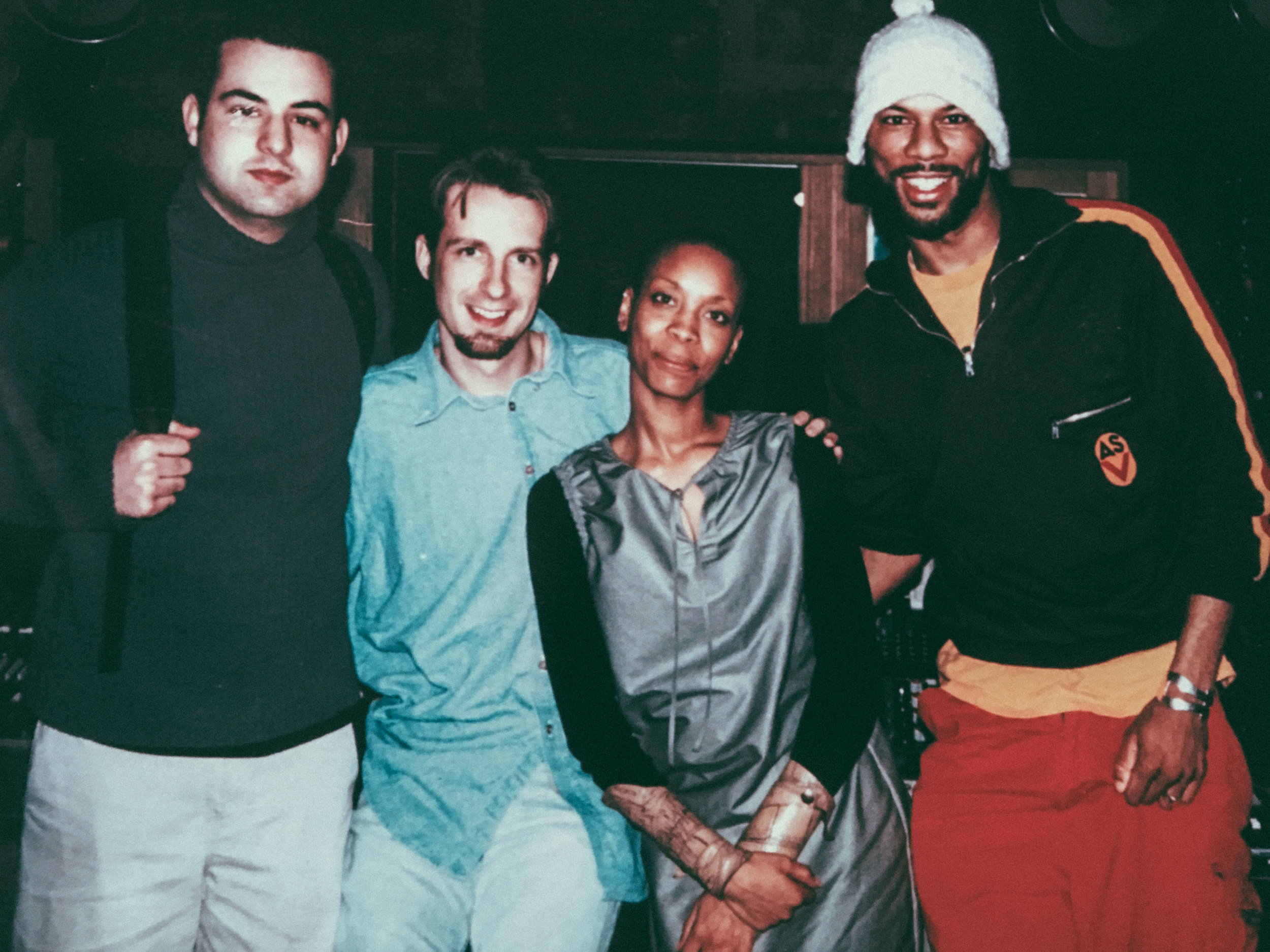 In session with Erykah Badu and Common at Palmyra Studios