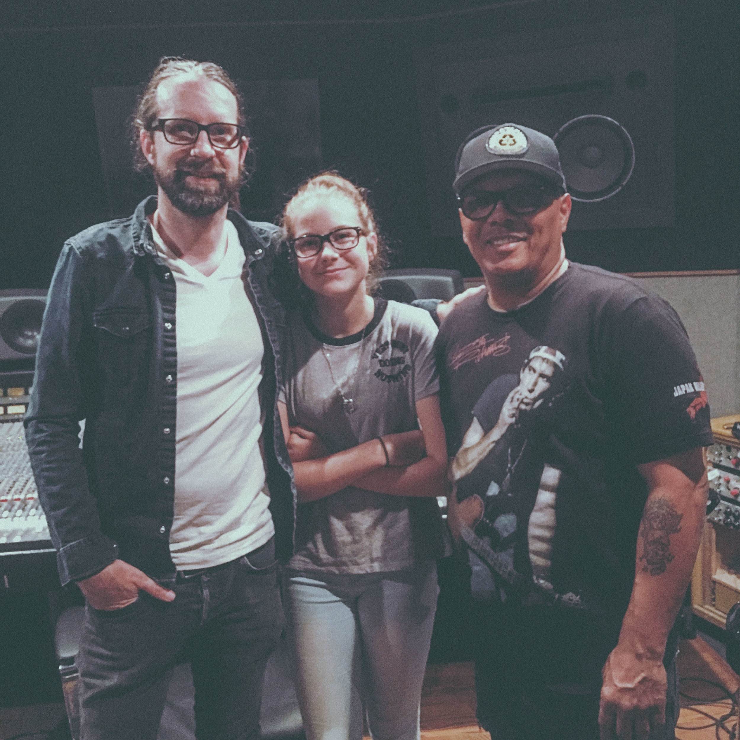 In session with Ivan Neville and my daughter