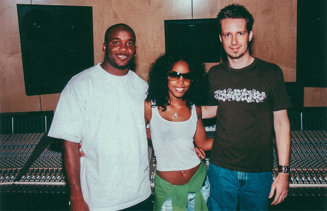 Recording Kelly Rowland (Attending the session Roy Williams with the Dallas Cowboys)