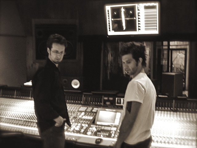 In session at Pacifique Studios with Doyle Bramhall II, Hollywood, CA