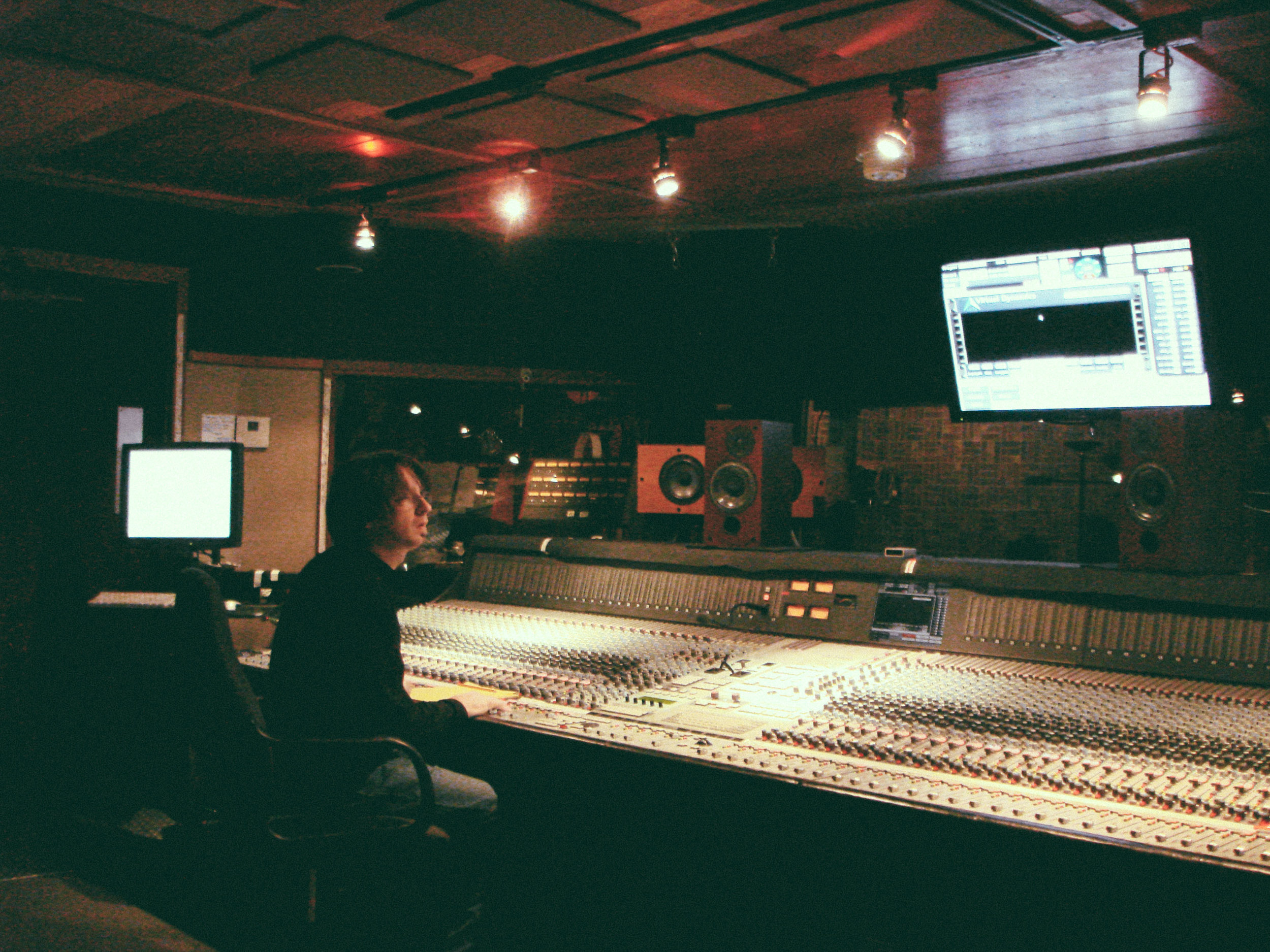Working at The Hive Recording Studios on the AMEK 9098 owned by 311, Hollywood, CA