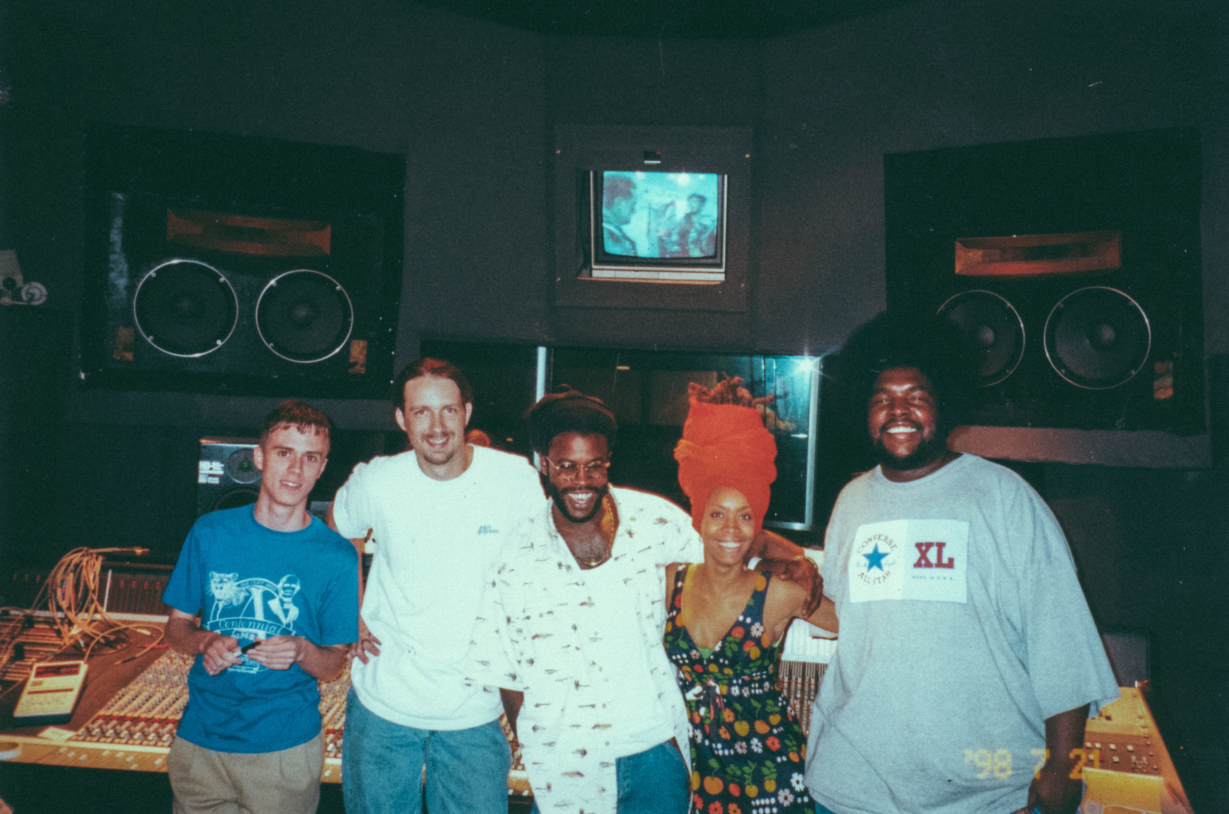 """Recording session with The Roots for the song """"You Got Me"""" with Erykah Badu (They gave me zero credit)"""