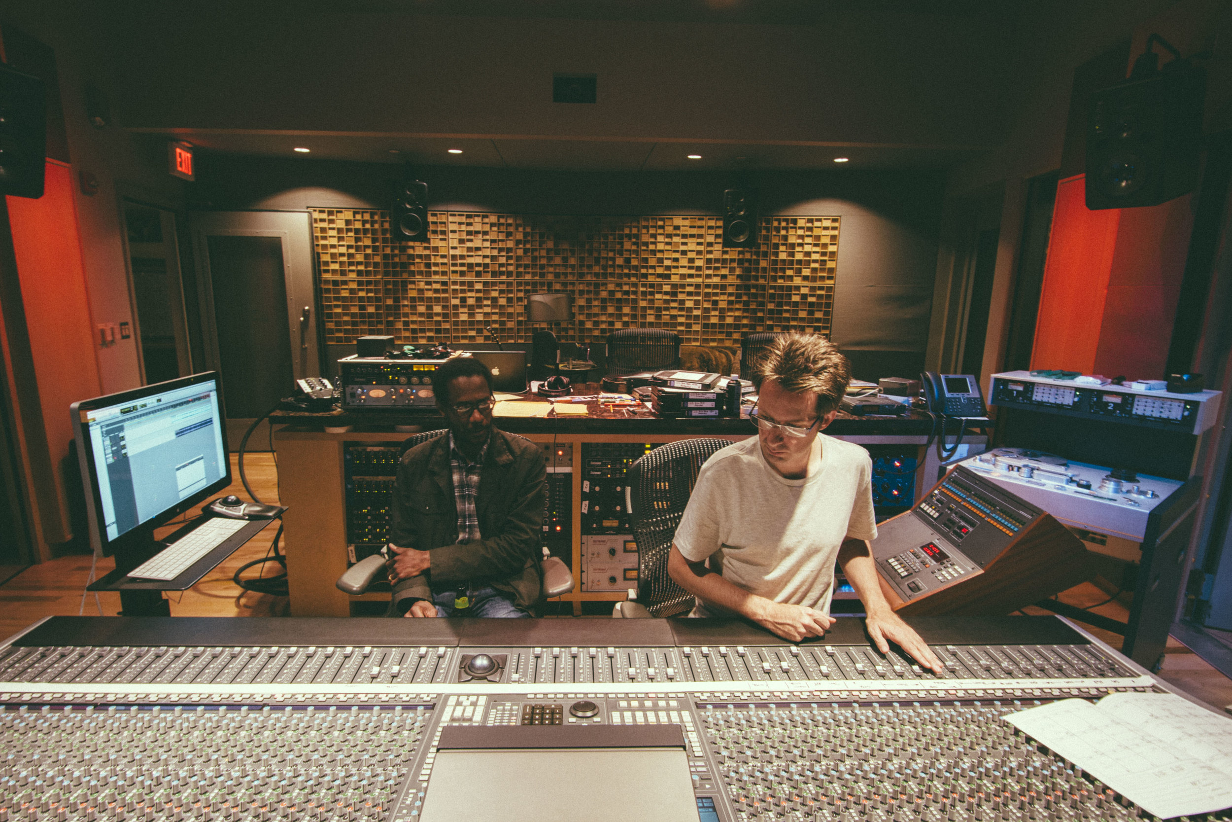 """Mixing the record """"Landmarks"""" with Brian Blade. This was an all tape record."""