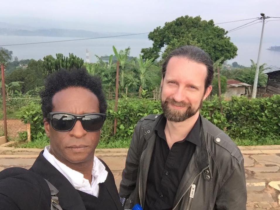In Rwanda with Brady Blade.........don't ask