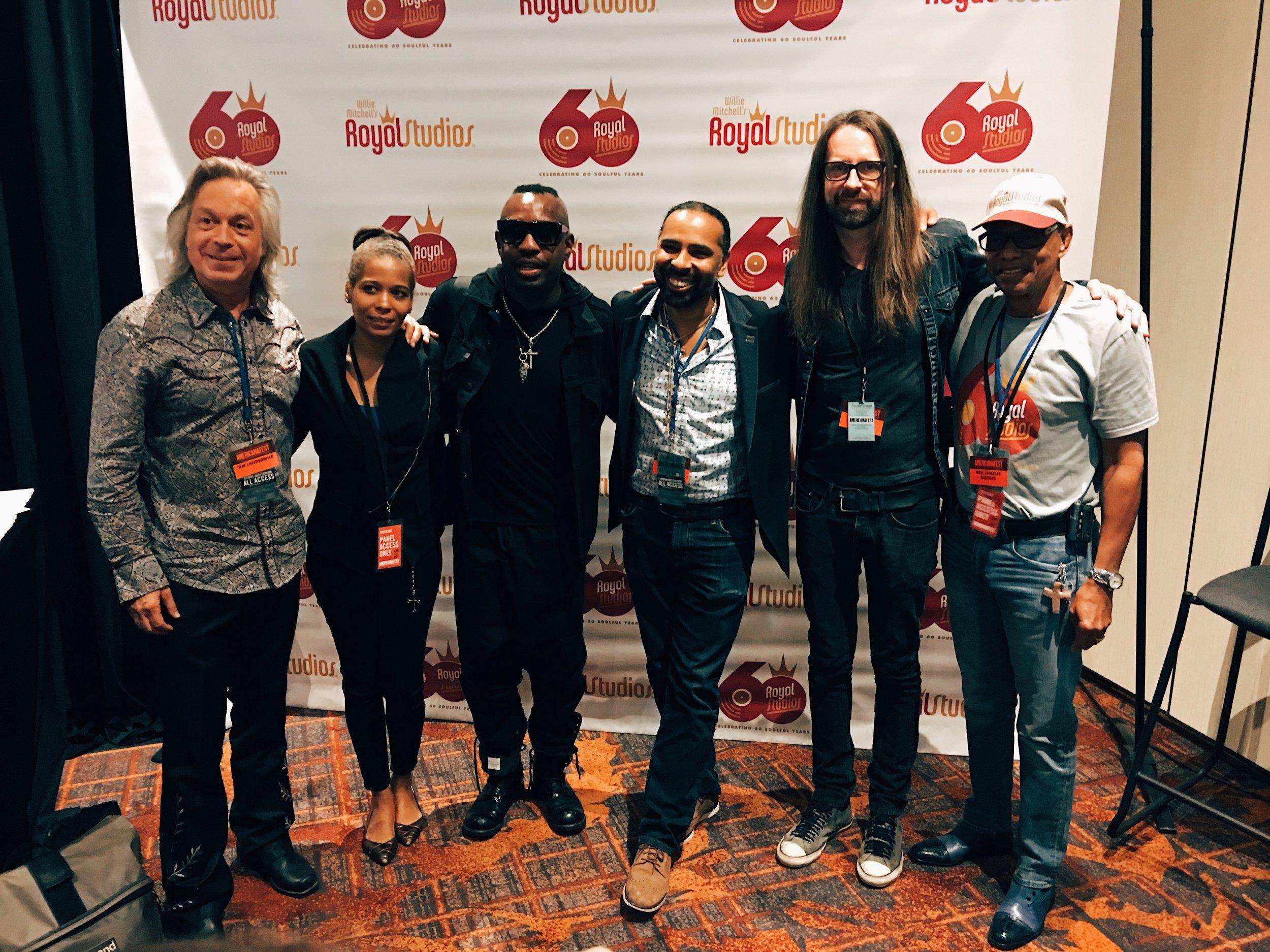 Jim Lauderdale, Oona Mitchell, Steve Jordan, Boo Mitchell, Chris Bell, and Charles Hodges (Hi Rhythm Section) Nashville, TN
