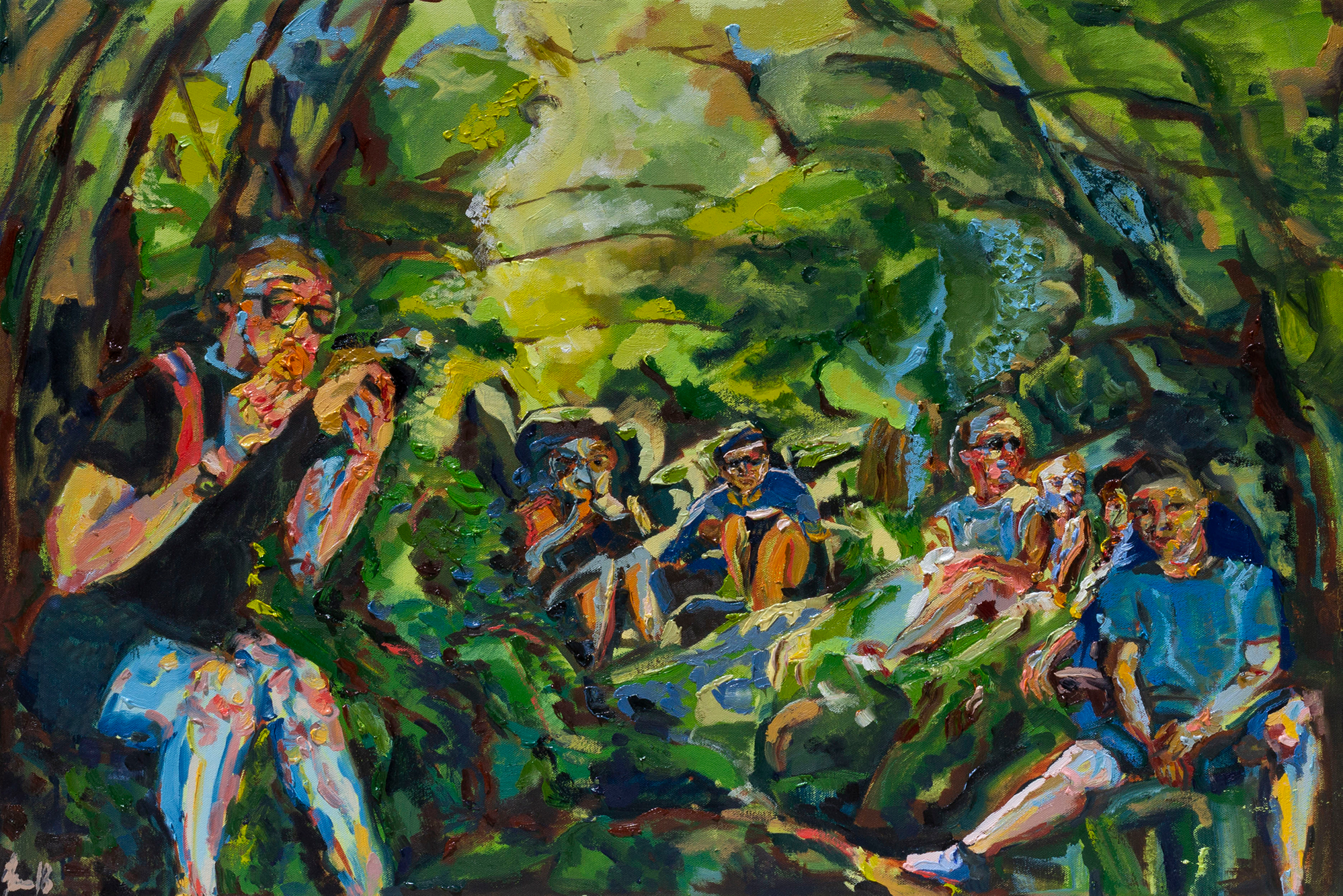 Lunch Hike  (2018)  24 x 36 inches  Oil on Canvas