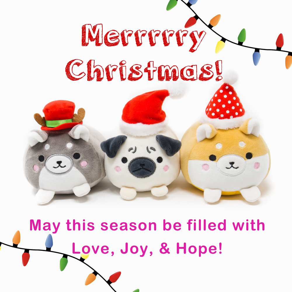 2017 Merry Christmas Greeting - Marshmallow Dog Plush -  DOWNLOAD