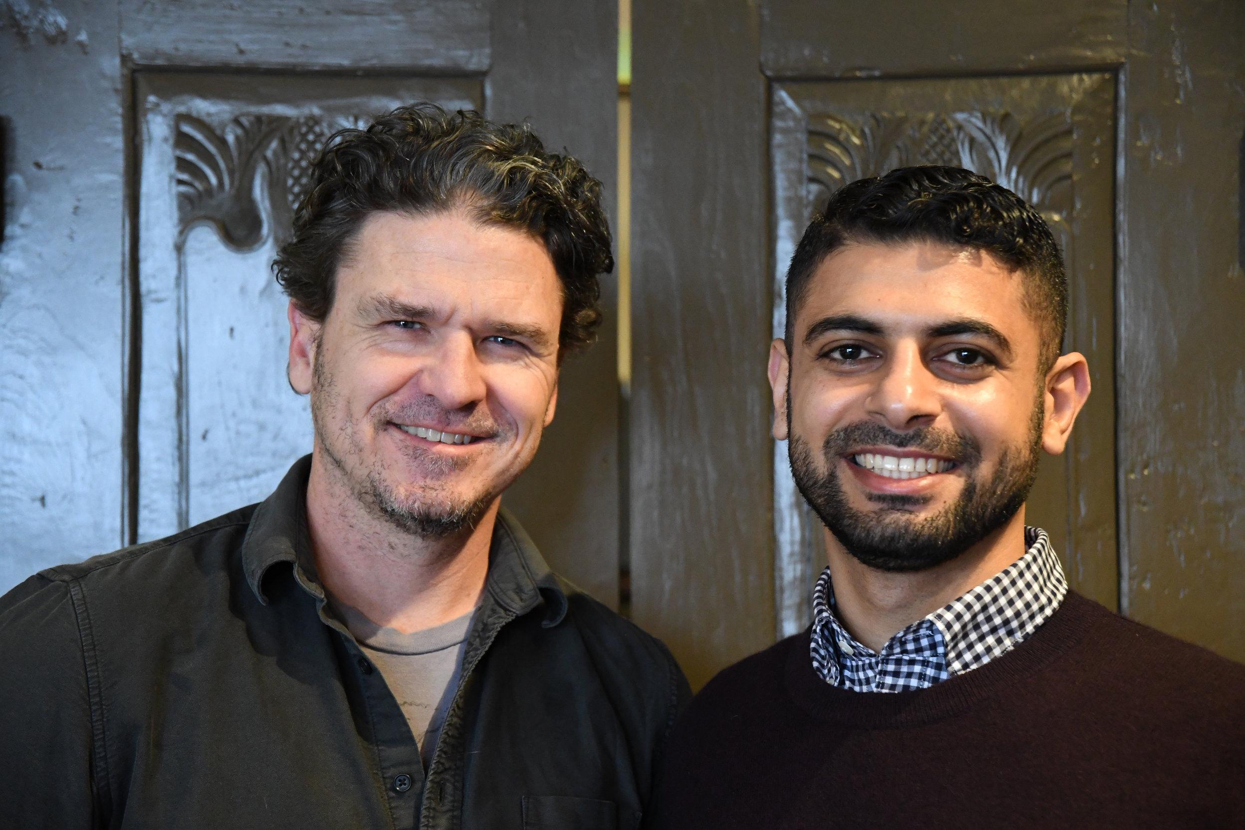 Dave Eggers & Mokhtar Alkhanshali, photo credit: Jeremy Stern