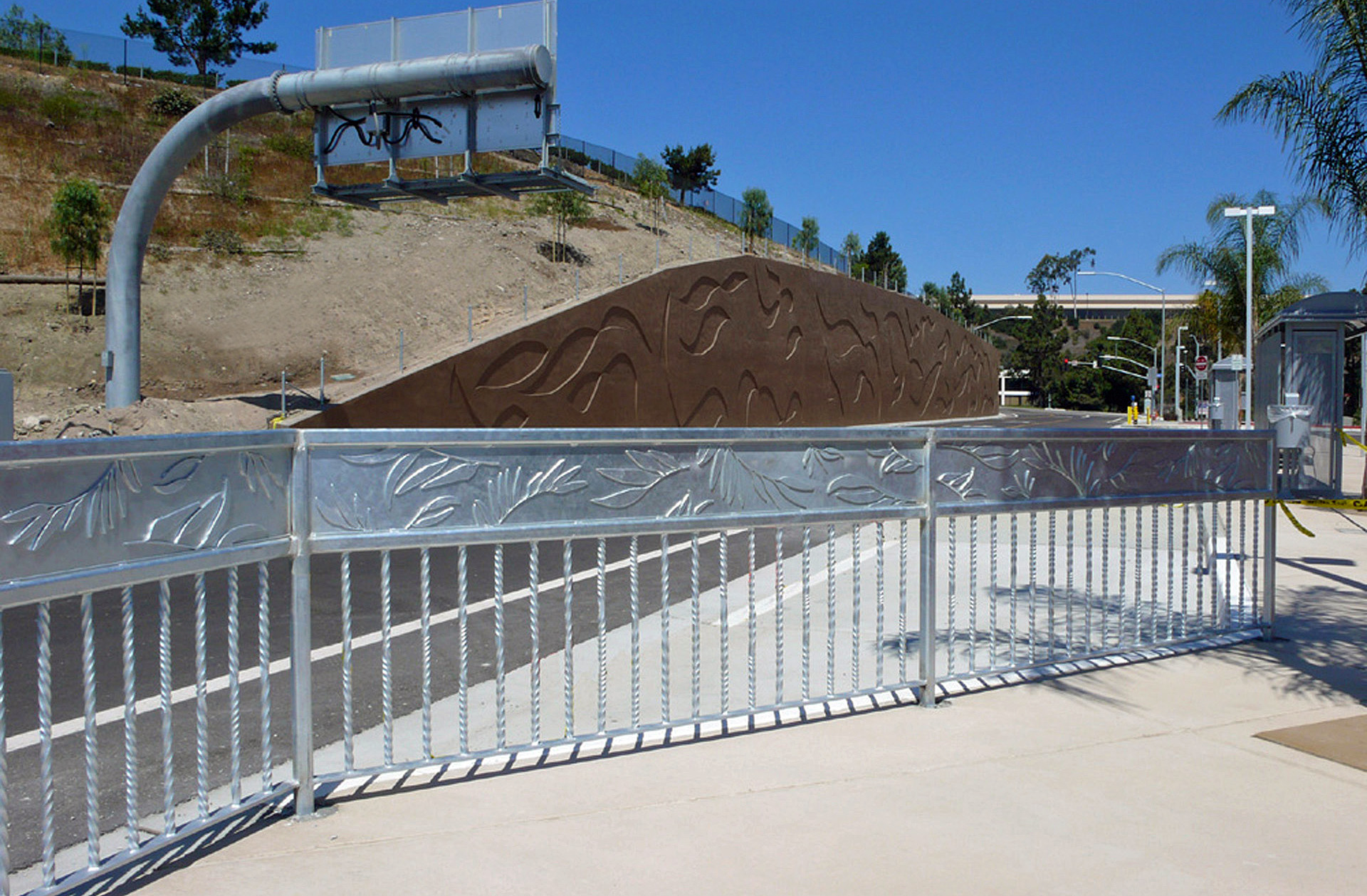 Pedestrian Railing - Rancho Bernardo Bus Rapid Transit Station