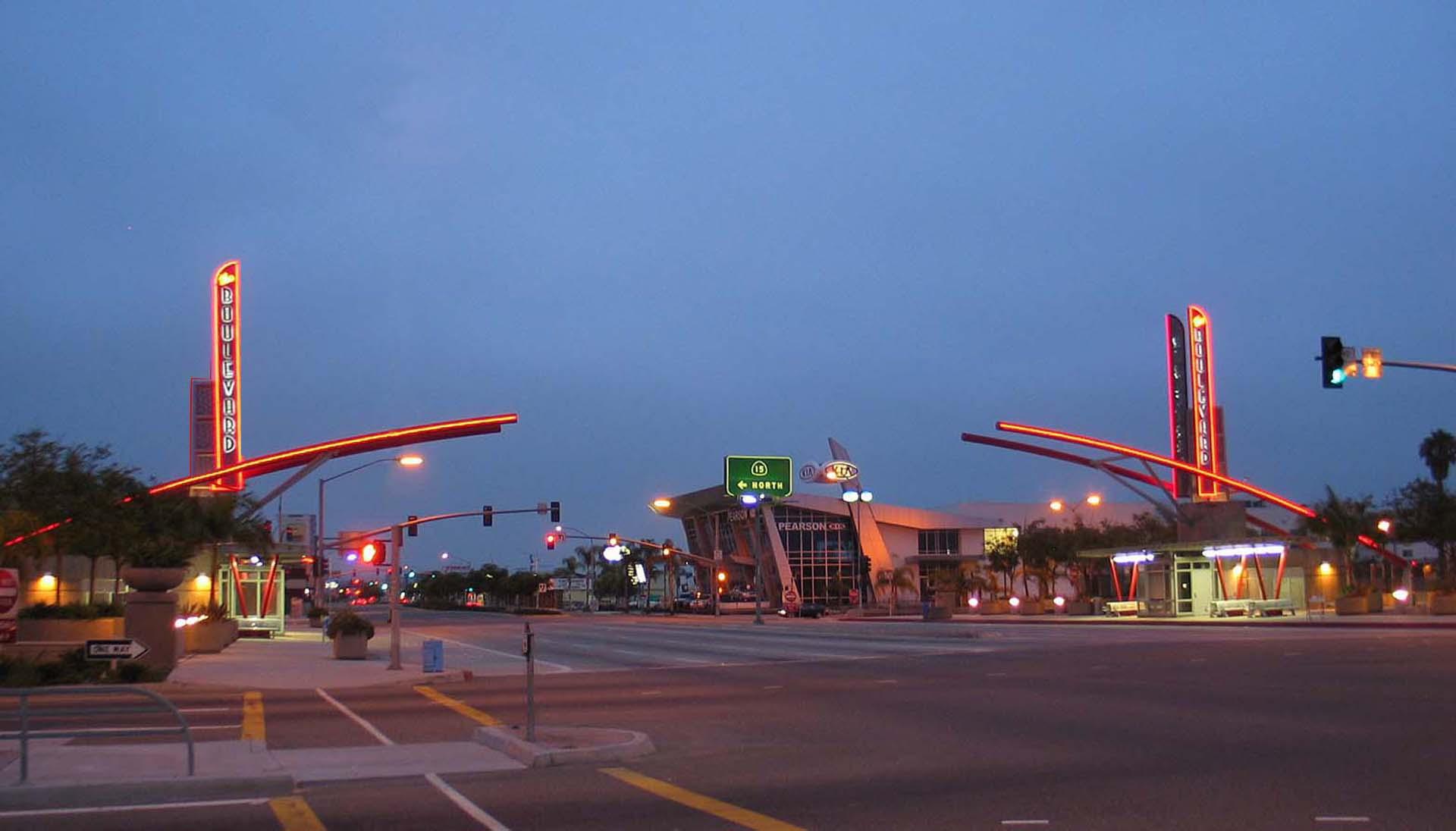 El Cajon Boulevard Transit Plaza Gateway